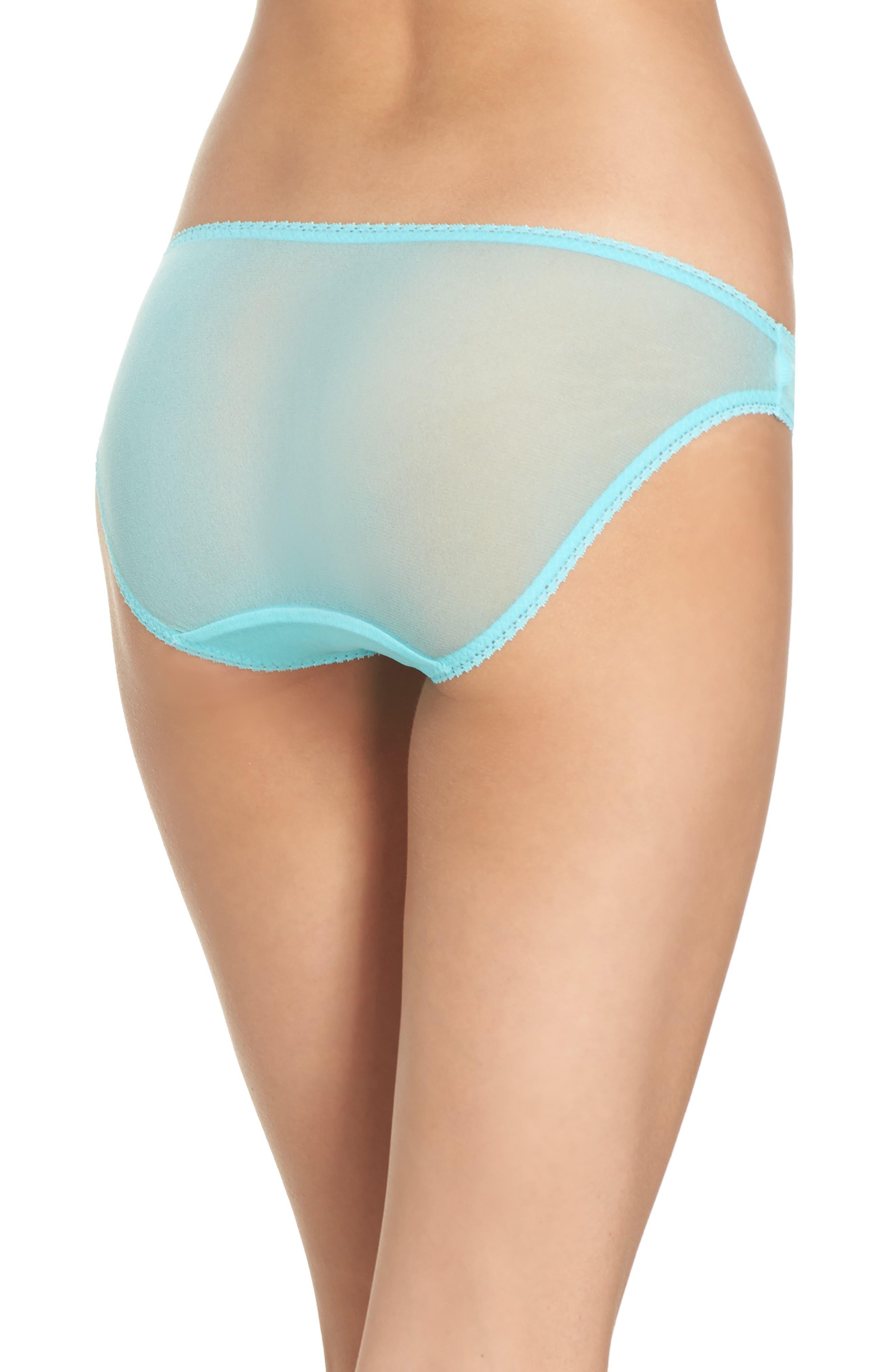Alternate Image 2  - On Gossamer Mesh Bikini (3 for $45)