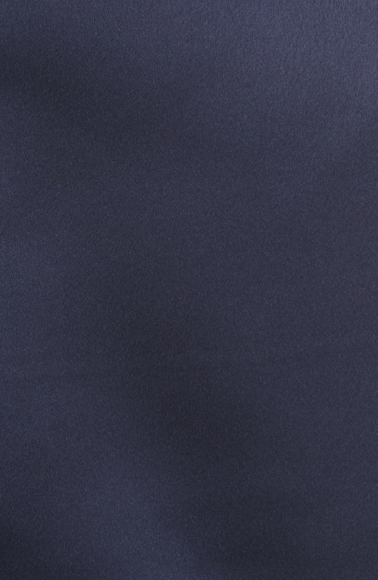 Satin Utility Miniskirt,                             Alternate thumbnail 5, color,                             Navy