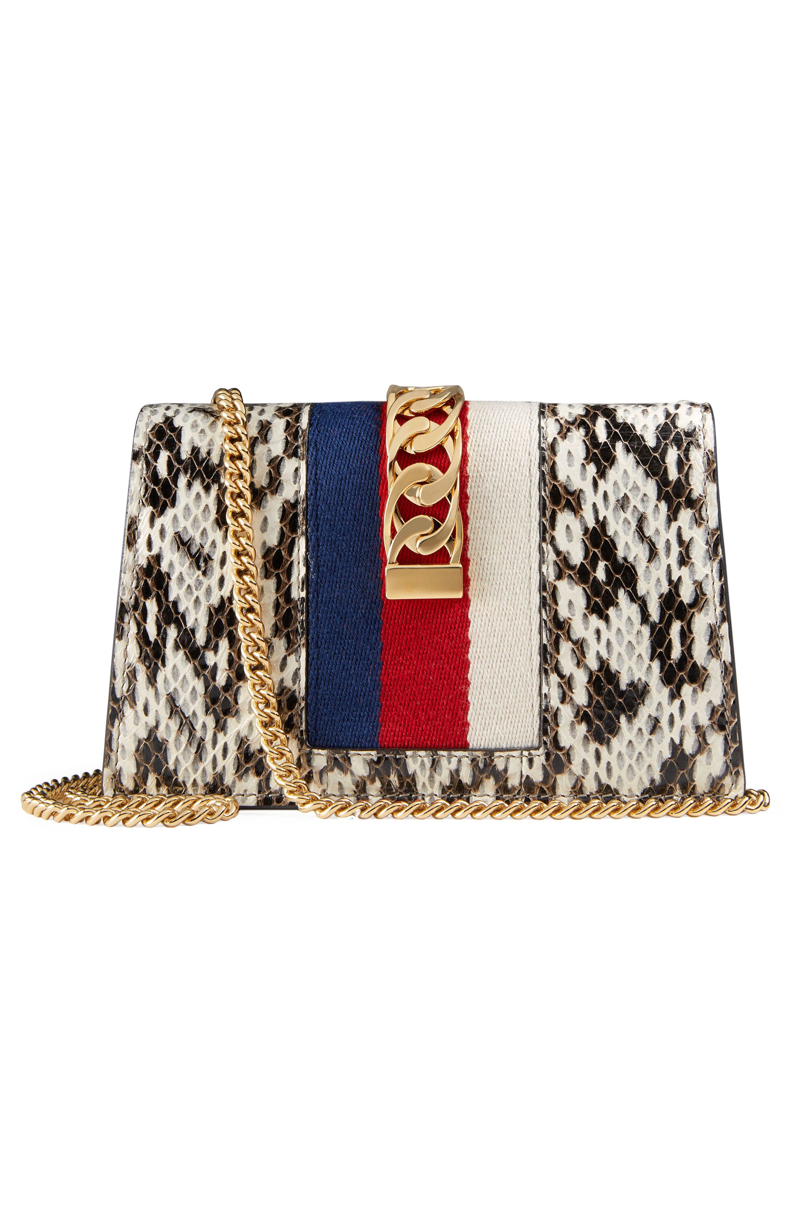 Alternate Image 2  - Gucci Super Mini Chain Wallet with Hook