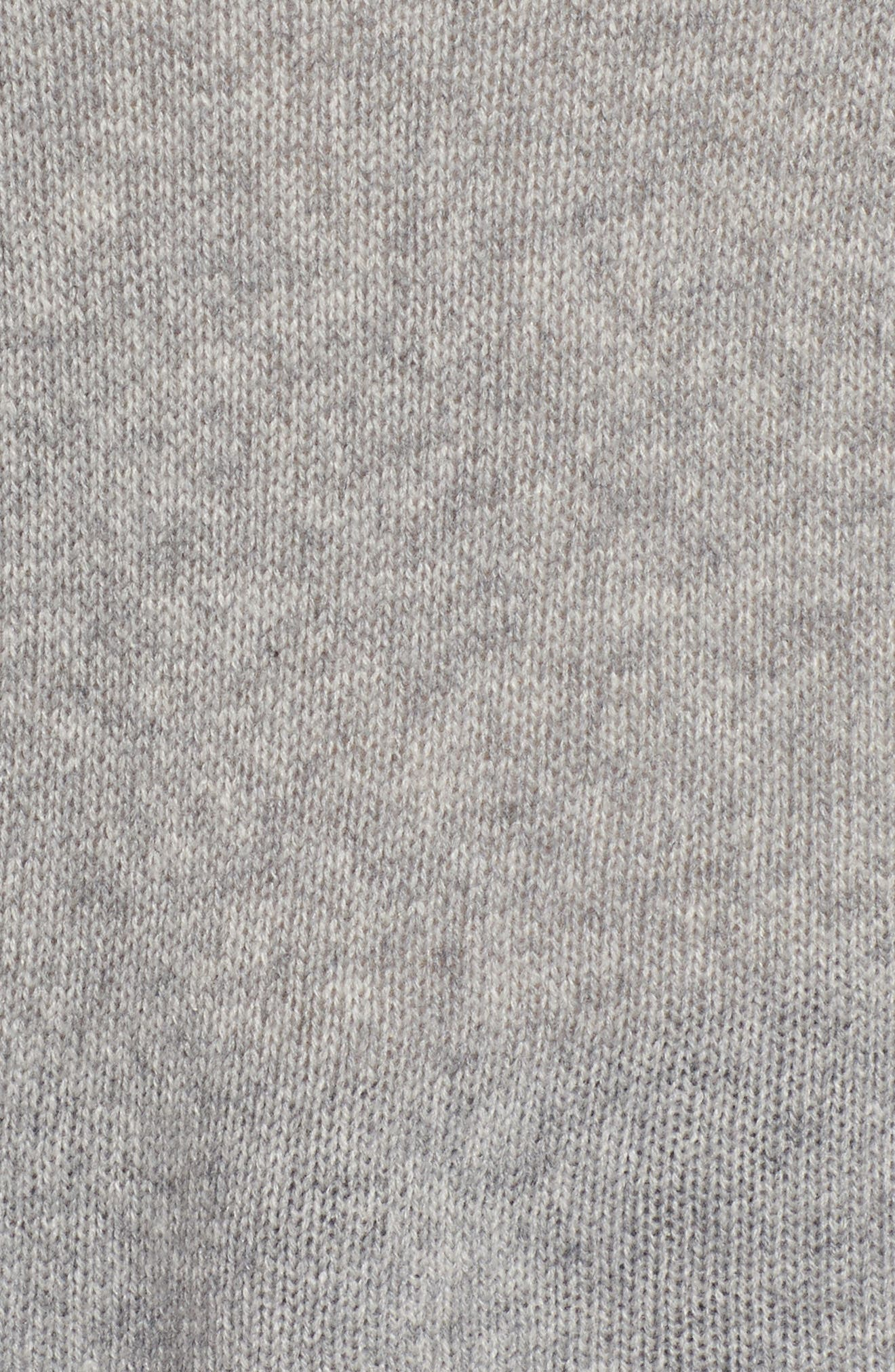 Baly Bis Cashmere Sweater,                             Alternate thumbnail 5, color,                             Gris