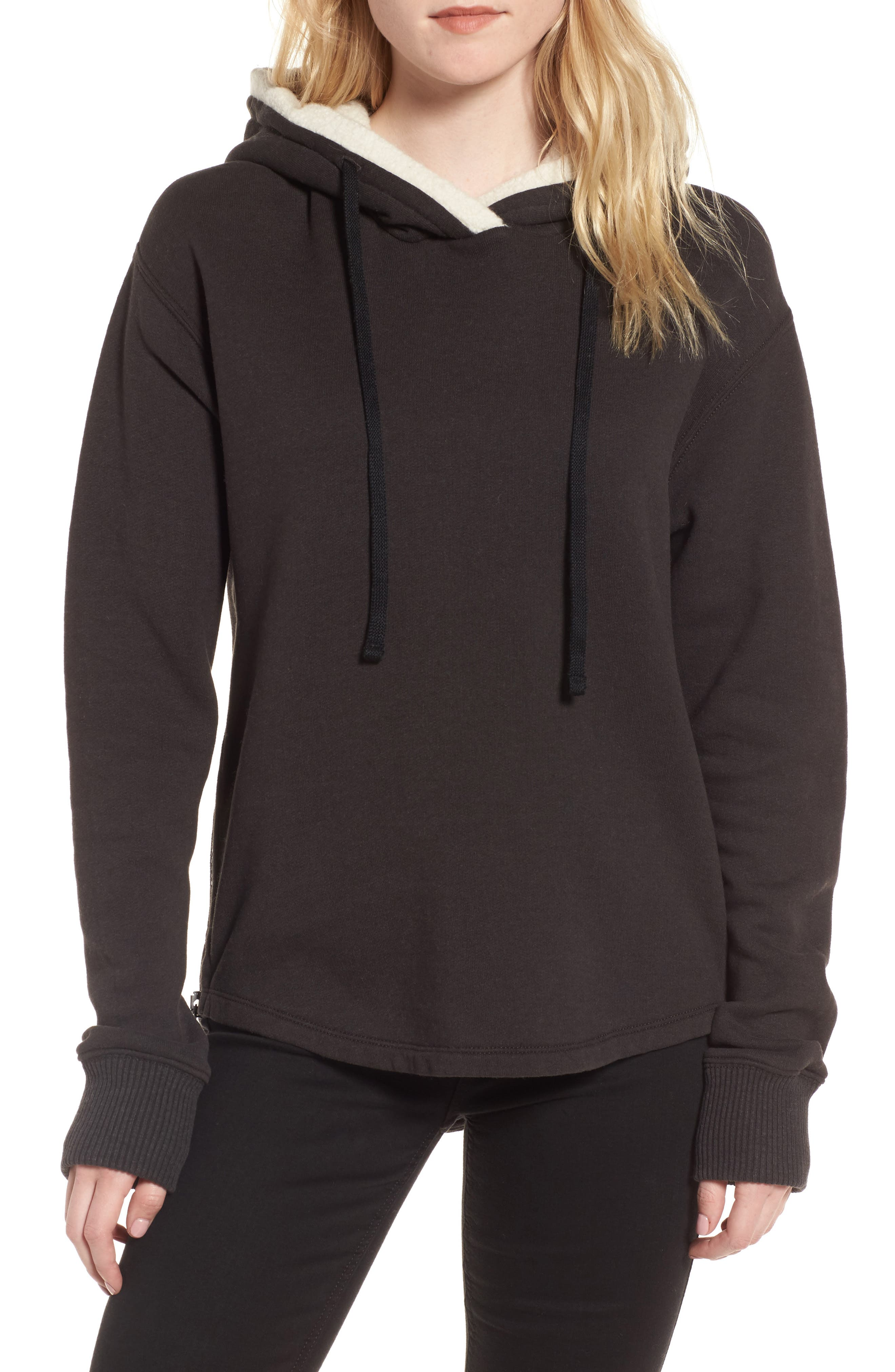 Fleece Lined Hoodie,                         Main,                         color, Carbon