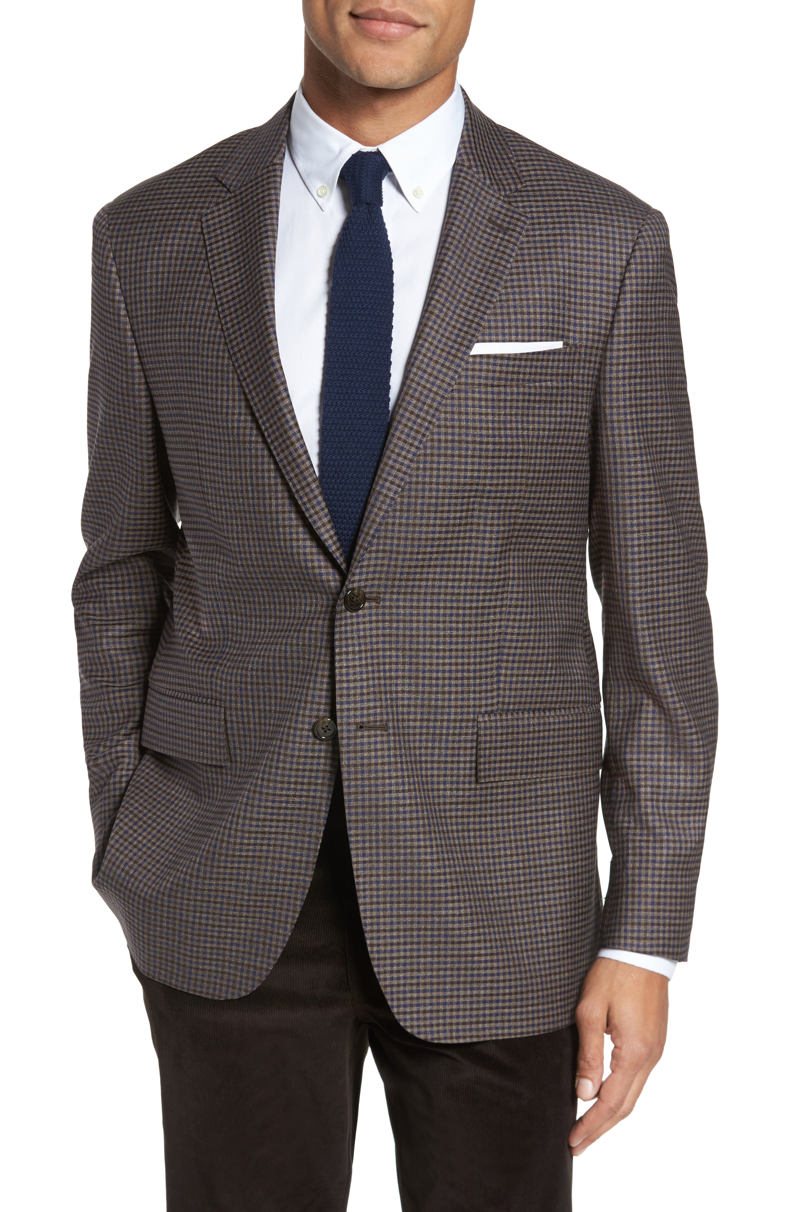 Todd Snyder White Label Trim Fit Check Wool Sport Coat