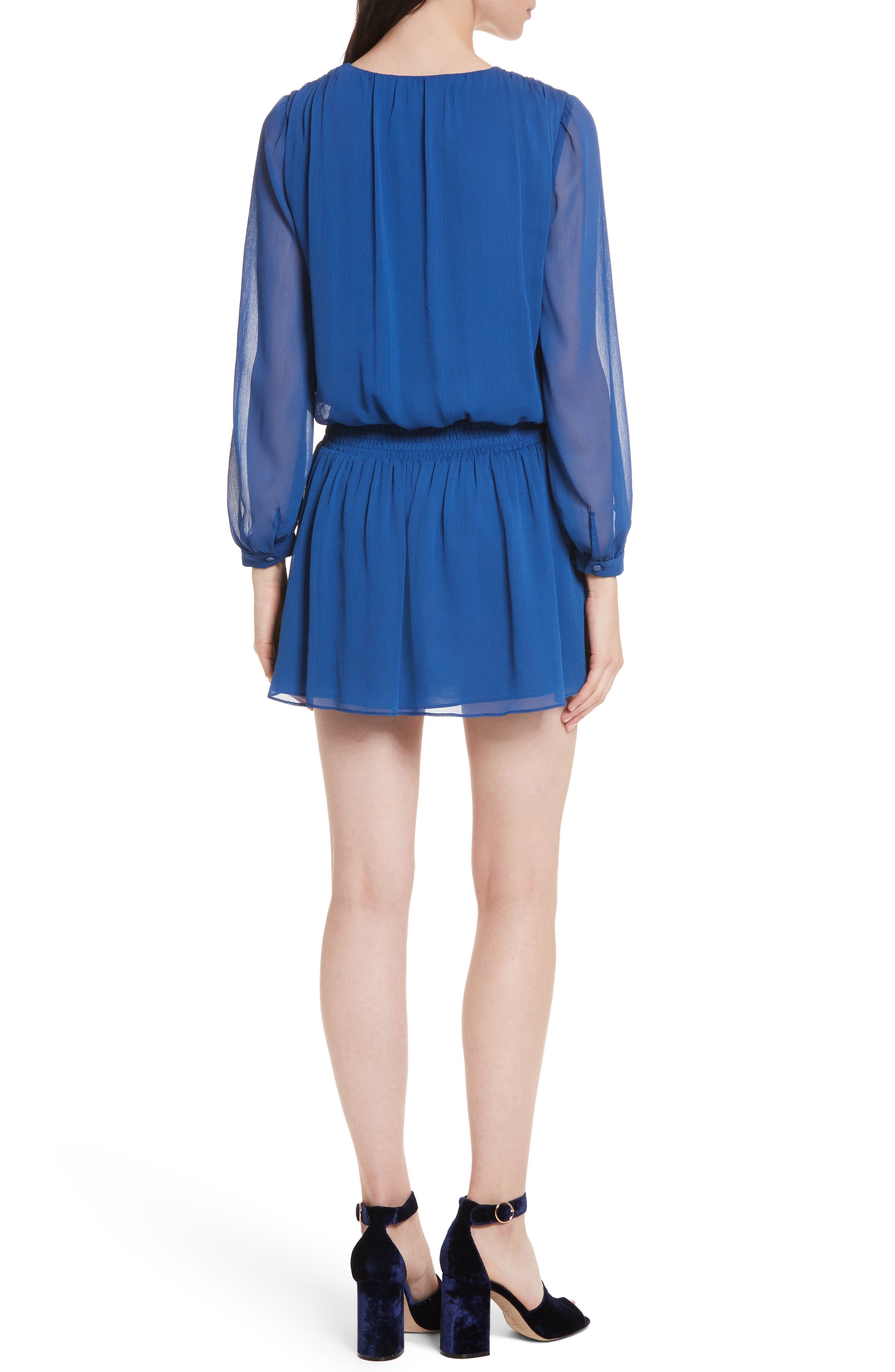 Alternate Image 2  - Alice + Olivia Adaline Smocked Waist Minidress