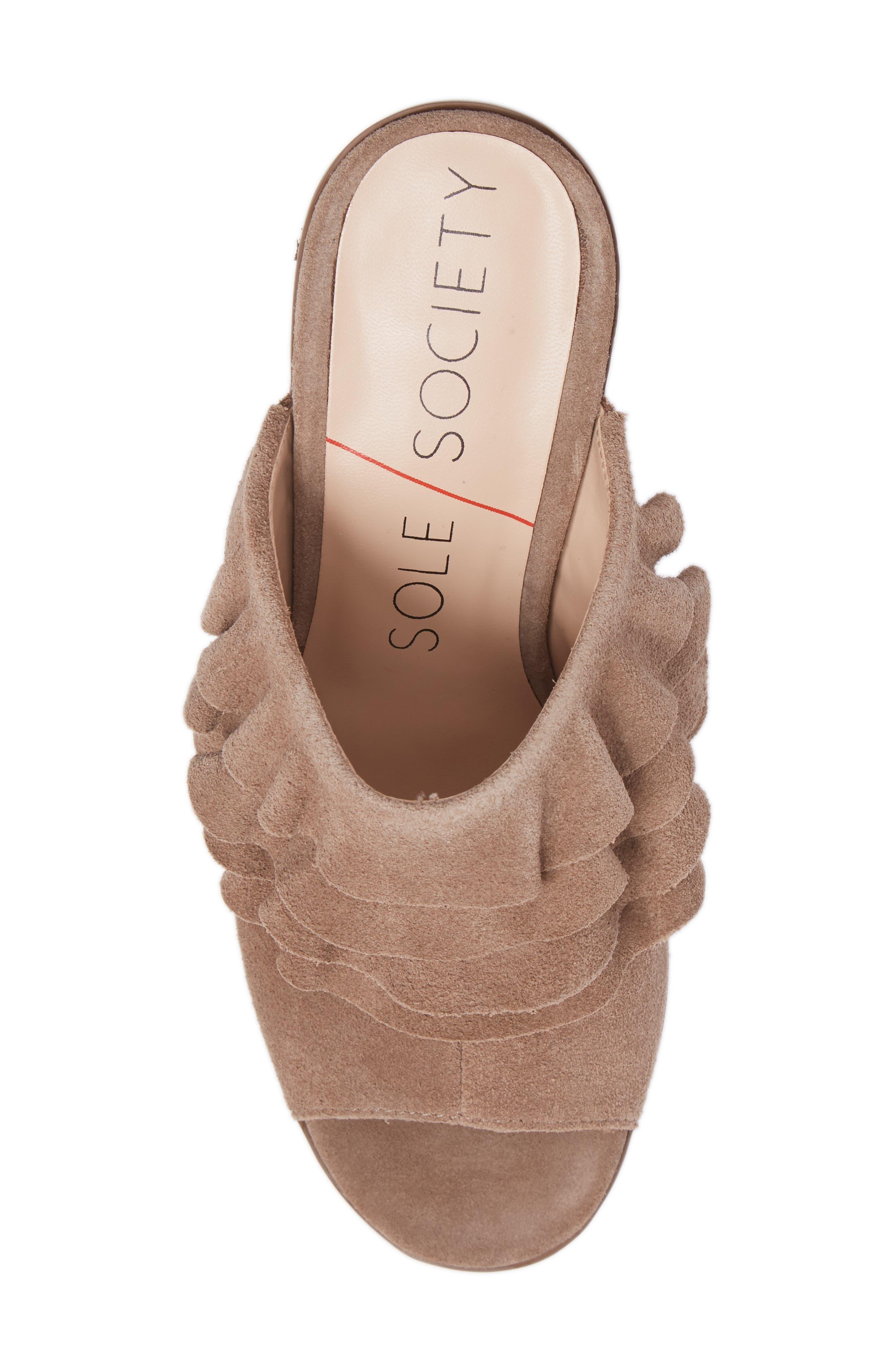 Alternate Image 5  - Sole Society Frannie Ruffle Mule (Women)