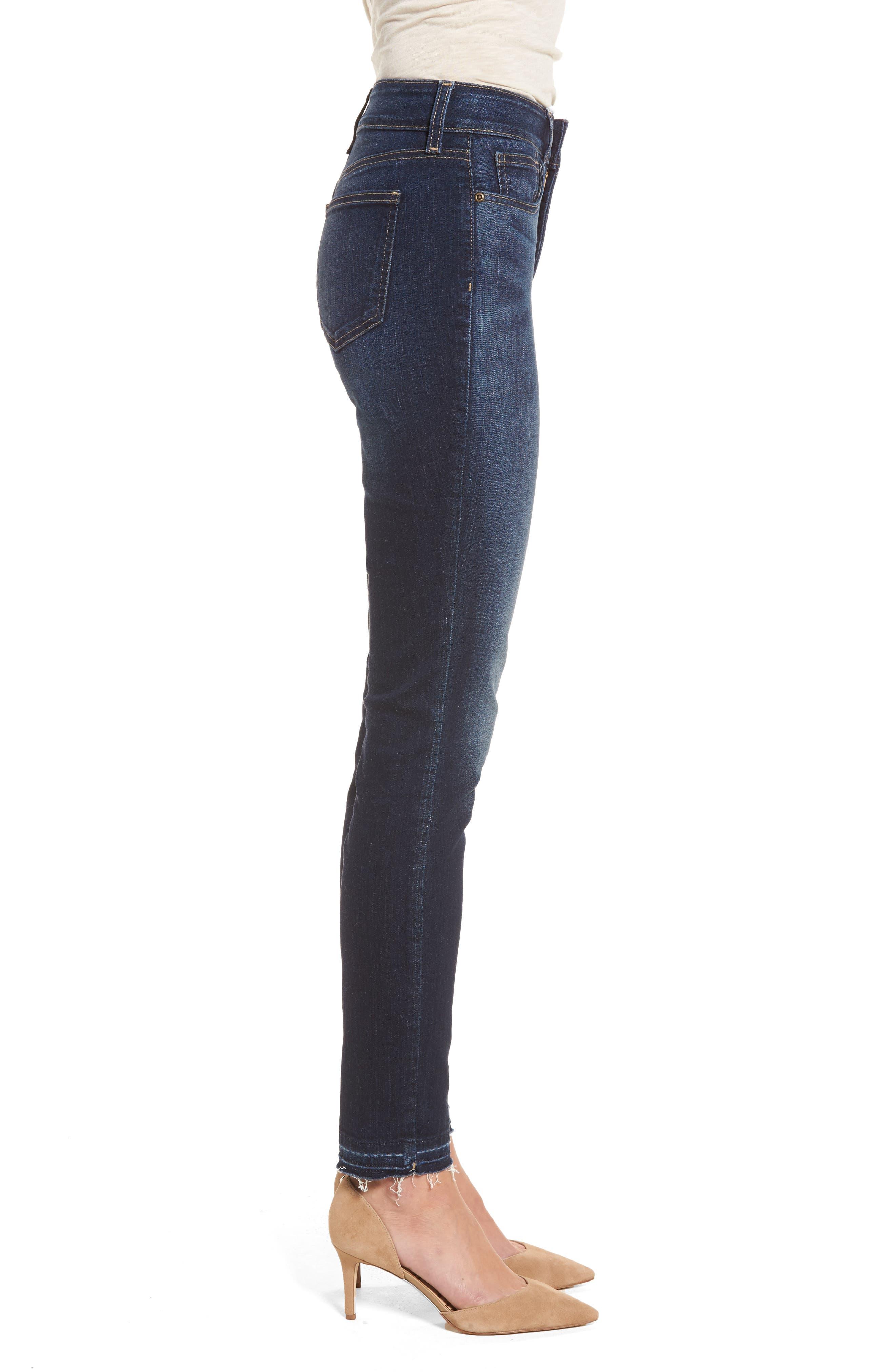 Alina Release Hem Stretch Ankle Jeans,                             Alternate thumbnail 4, color,                             Bezel