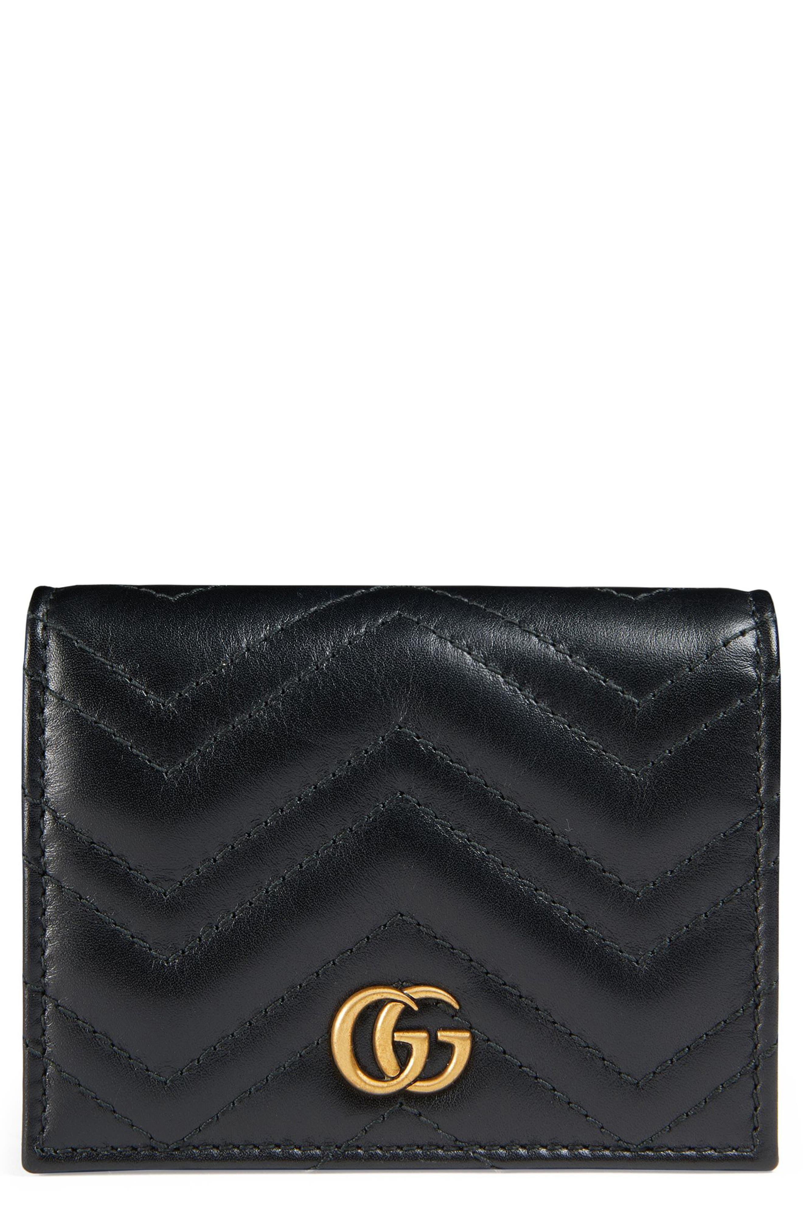 Gucci GG Marmont 2.0 Matelassé Leather Snap Card Case