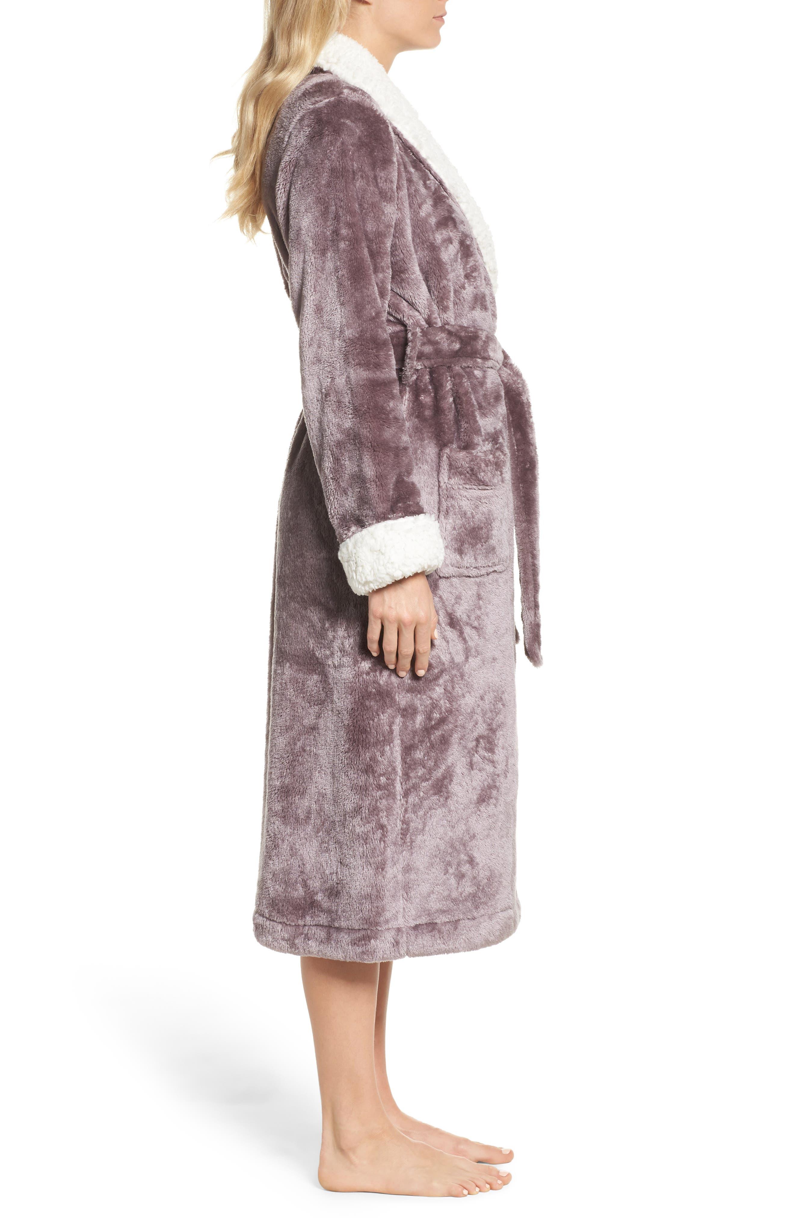 Alternate Image 3  - Nordstrom Lingerie Frosted Plush Robe