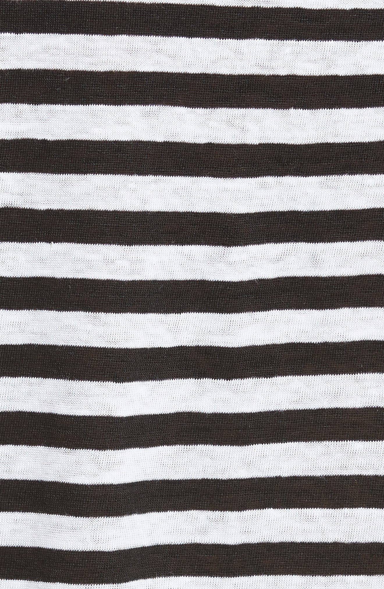 Stripe Crew Tee,                             Alternate thumbnail 7, color,                             Noir Multi Wide Stripe