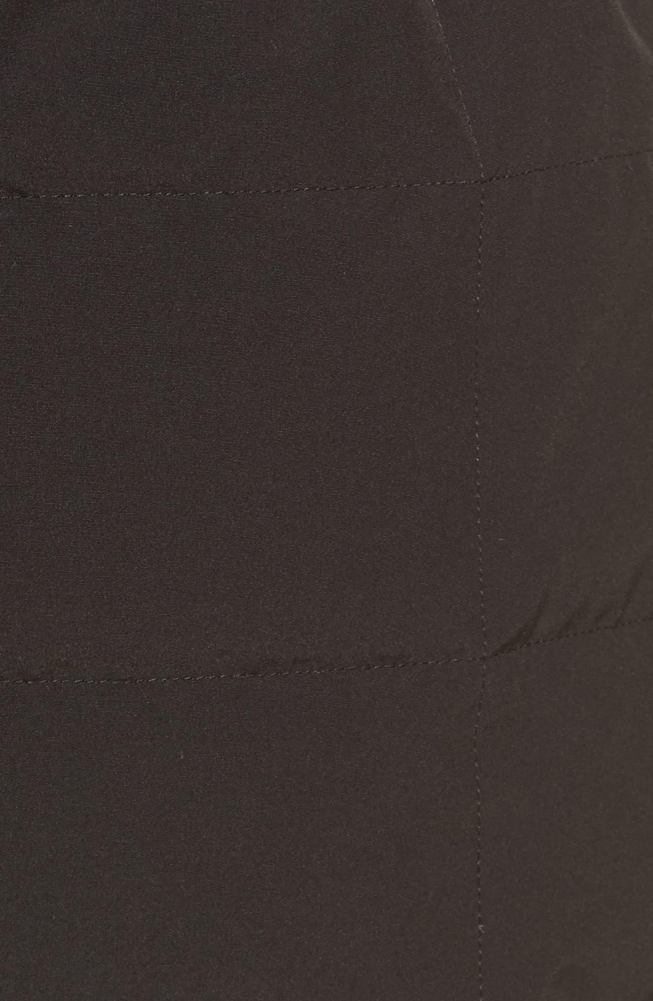 Lunenberg Hooded Down Parka with Genuine Coyote Fur Trim,                             Alternate thumbnail 6, color,                             Black