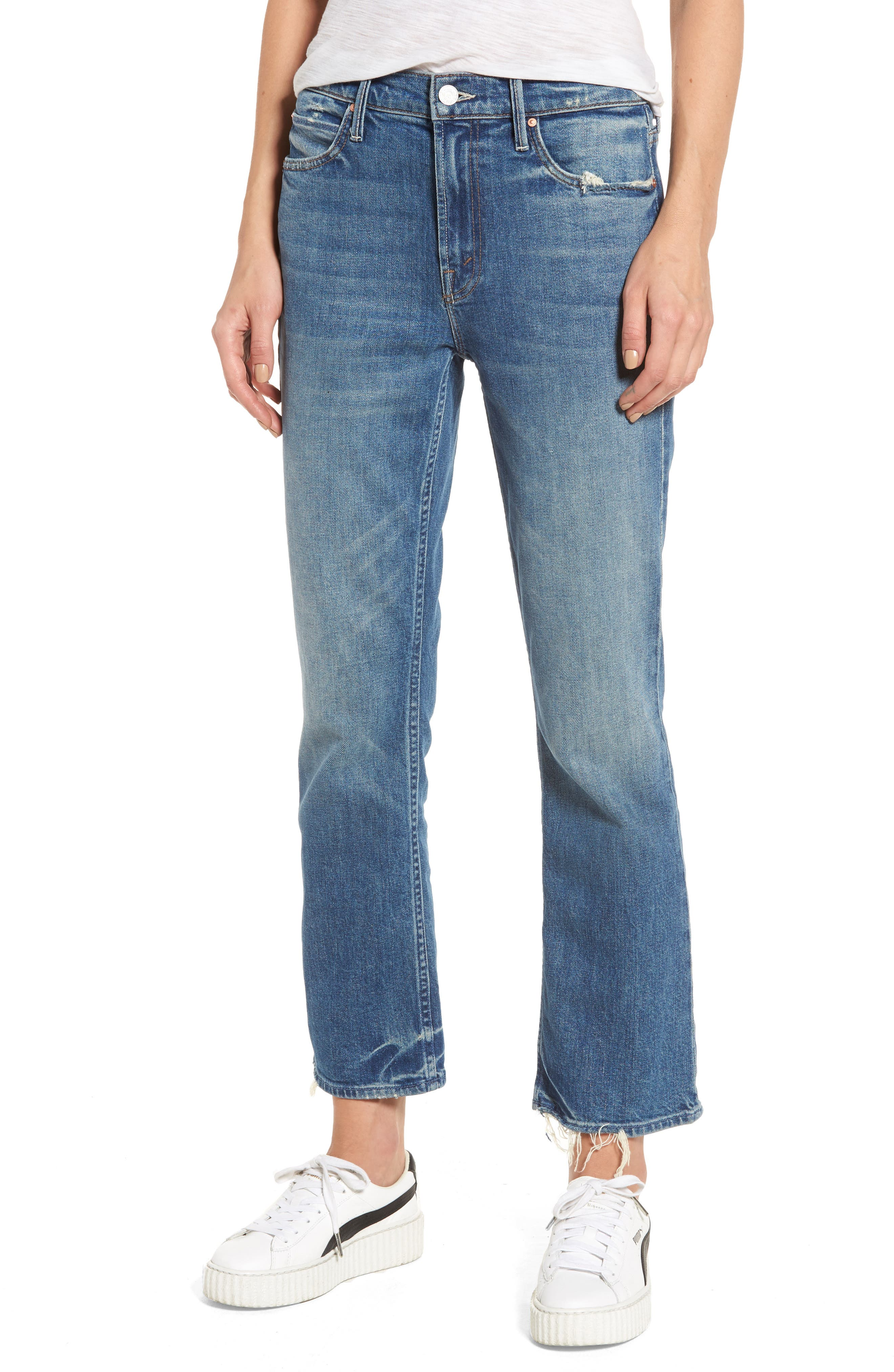 MOTHER The Dutchie Crop Straight Leg Jeans (My Soul to Keep)