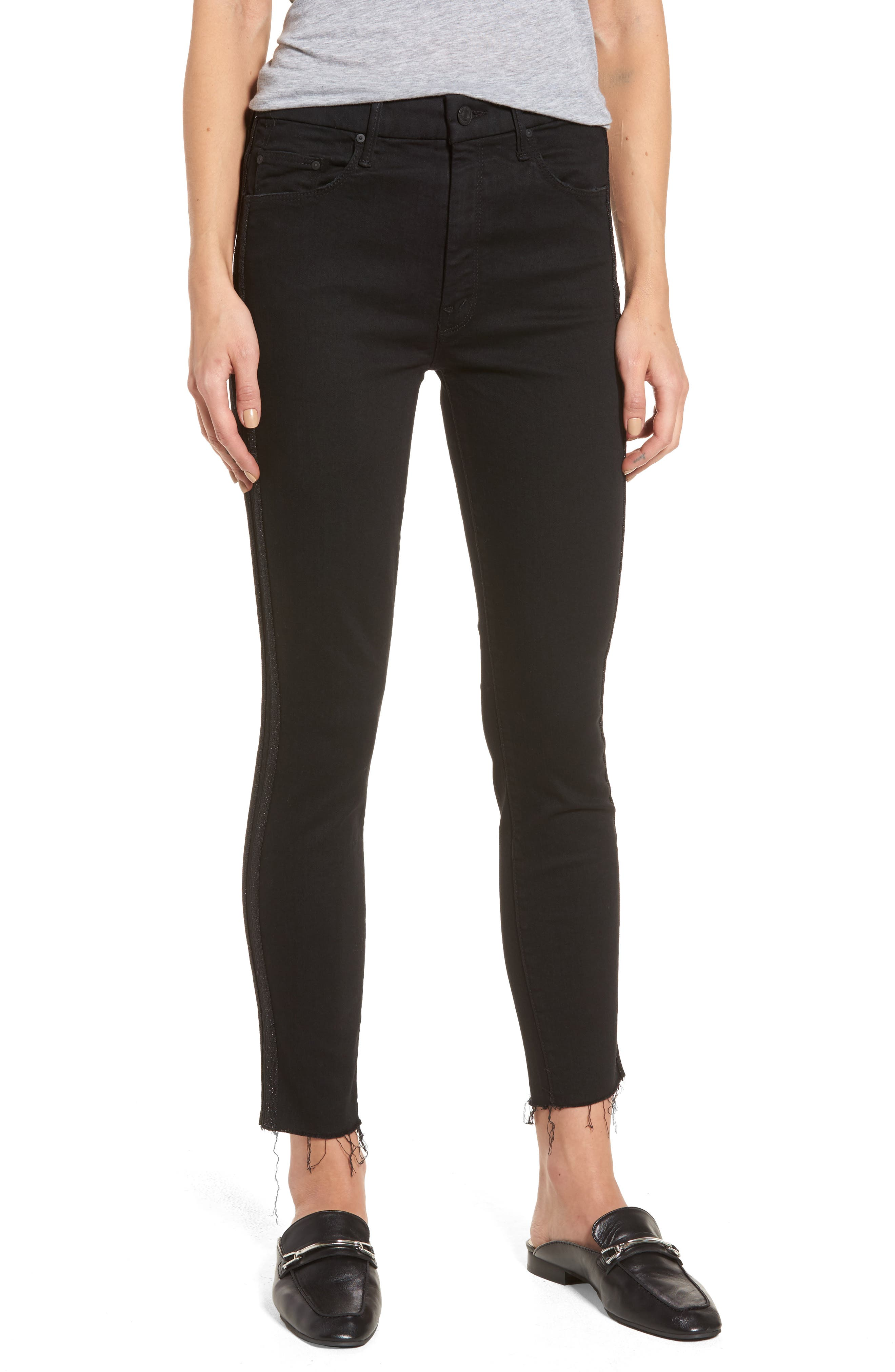 The Looker Frayed Ankle Jeans,                             Main thumbnail 1, color,                             Guilty Party Racer