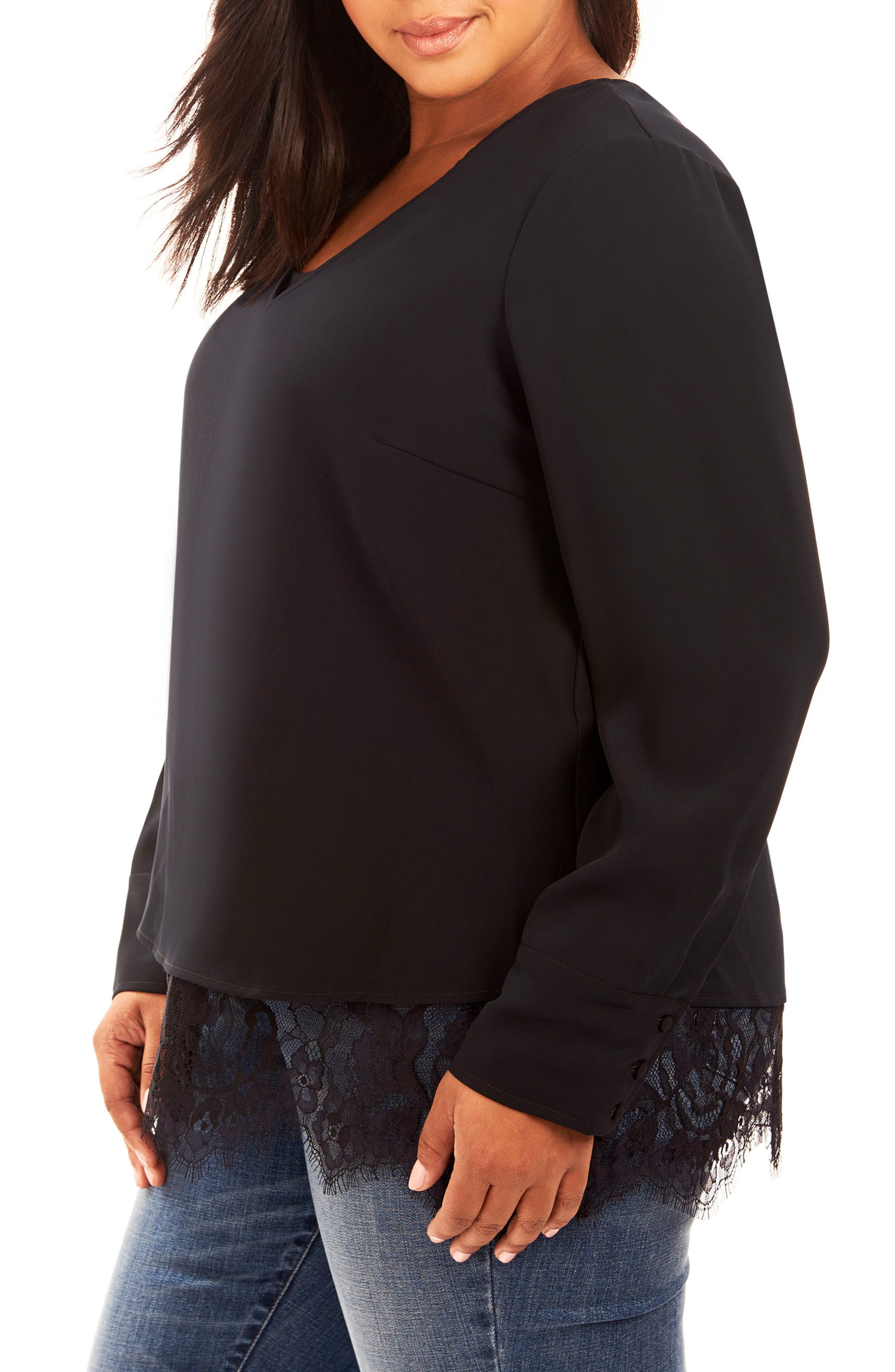 Alternate Image 3  - Rebel Wilson x Angels Double Layer Blouse (Plus Size)