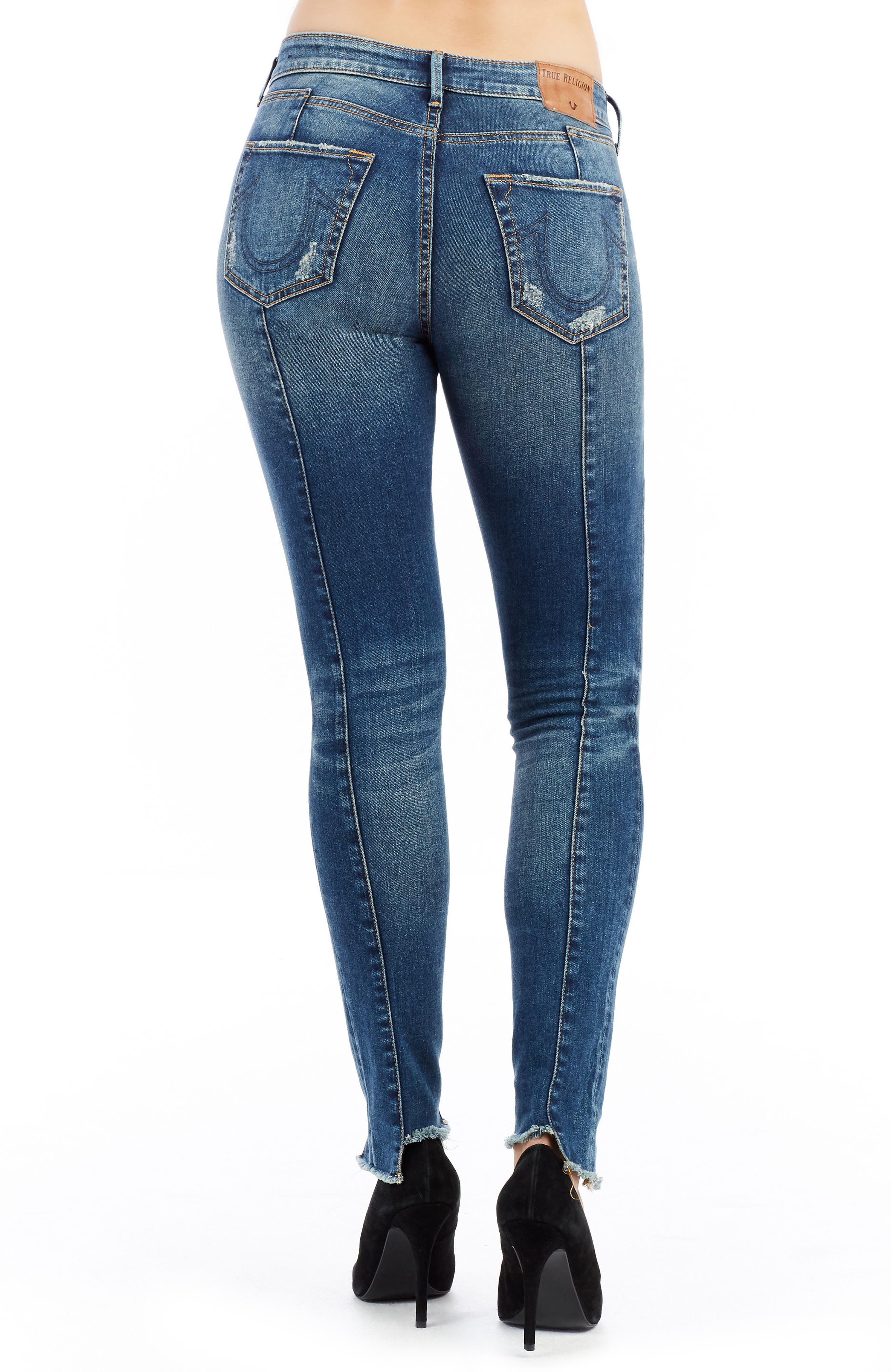 Jennie Curvy Skinny Jeans,                             Alternate thumbnail 2, color,                             Famous Blue Rock