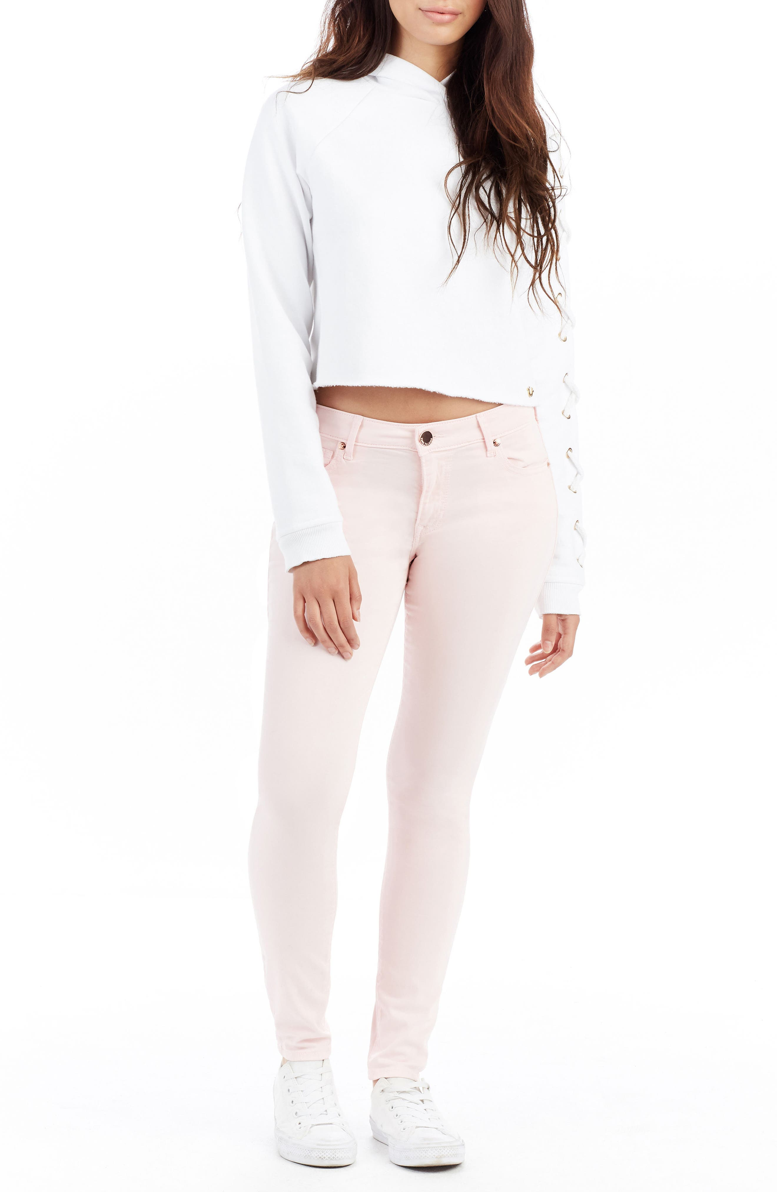Jennie Curvy Skinny Jeans,                             Alternate thumbnail 2, color,                             Washed Peony