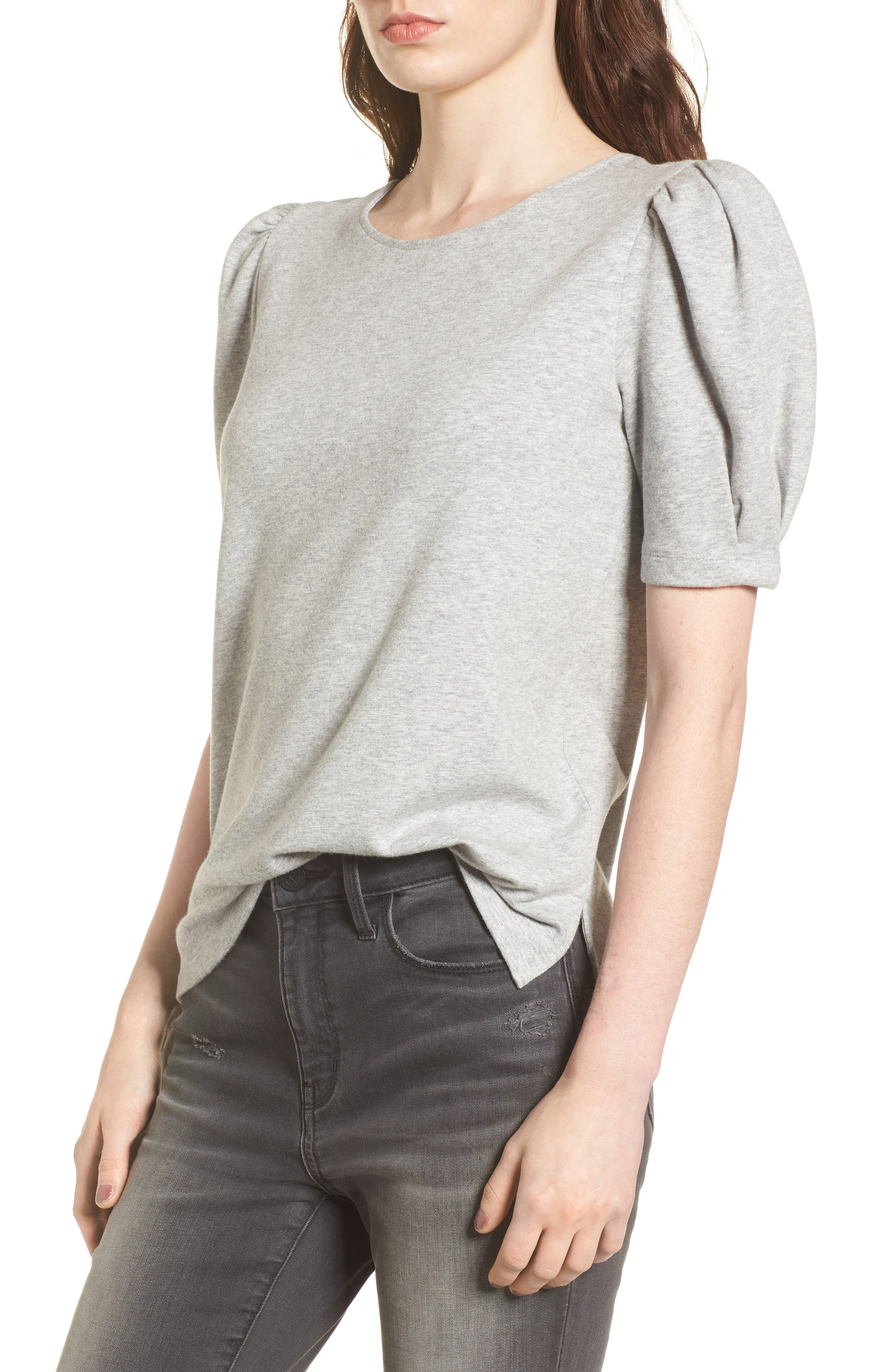 Tie Back Sweatshirt,                         Main,                         color, Grey Heather