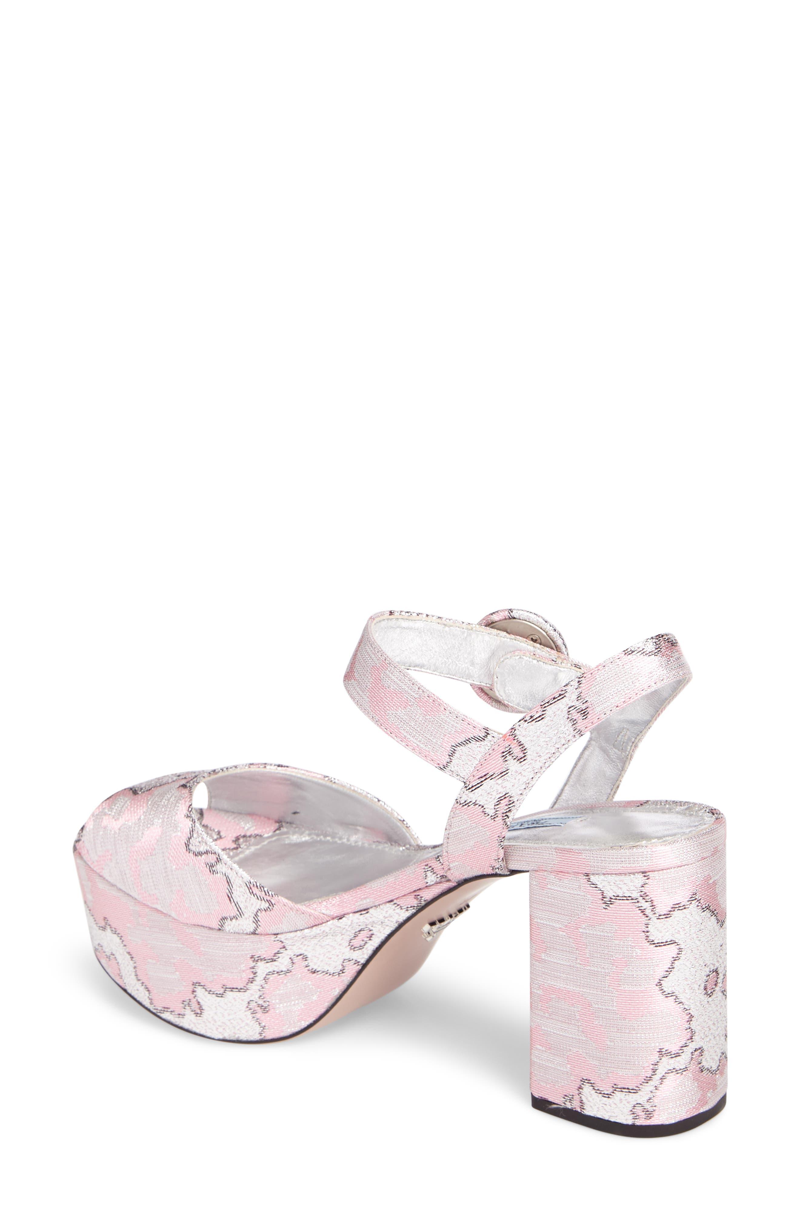 Ankle Strap Platform Sandal,                             Alternate thumbnail 2, color,                             Pink