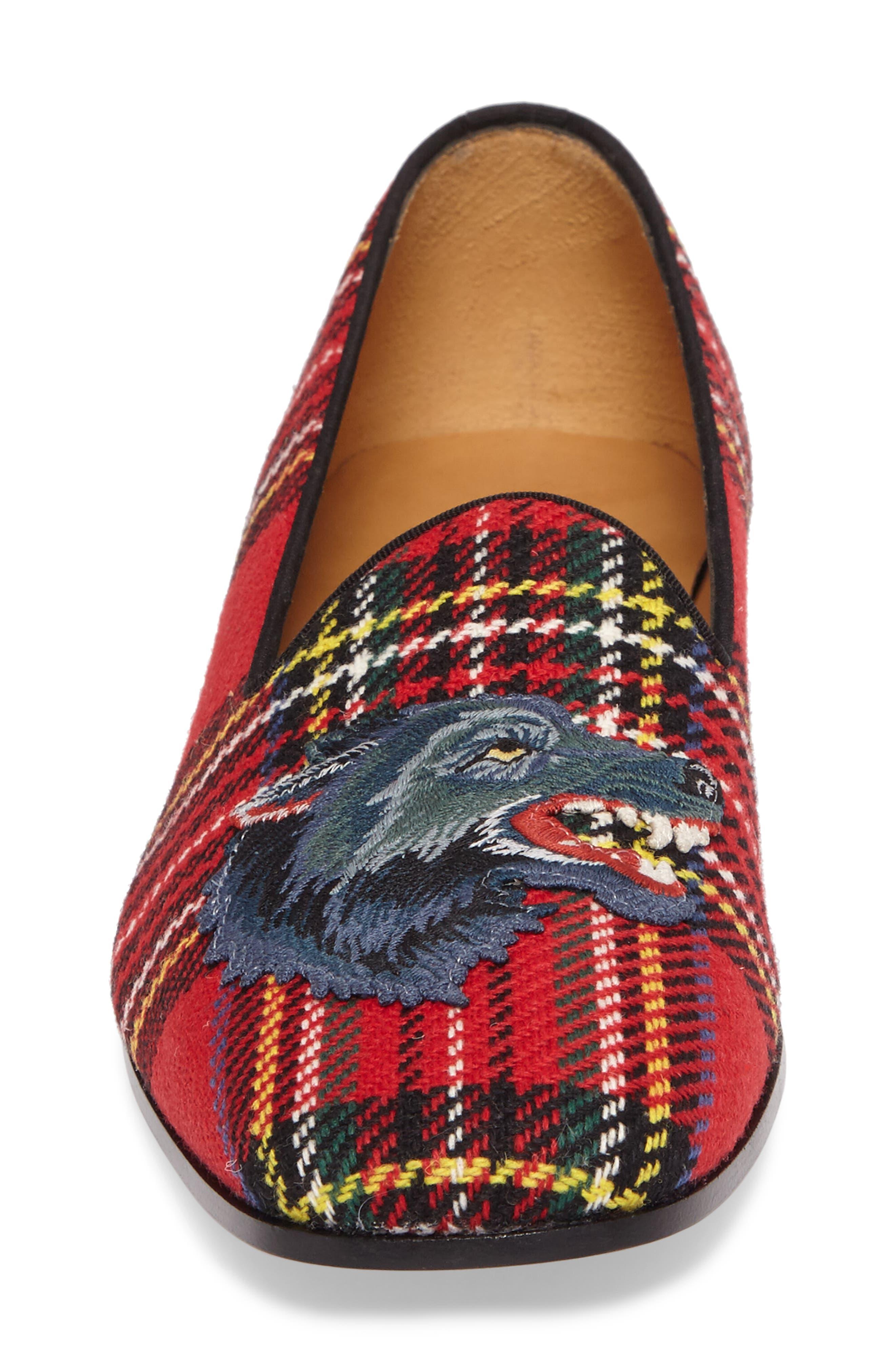 Alternate Image 4  - Gucci New Gallipoli Wolf Loafer (Men)