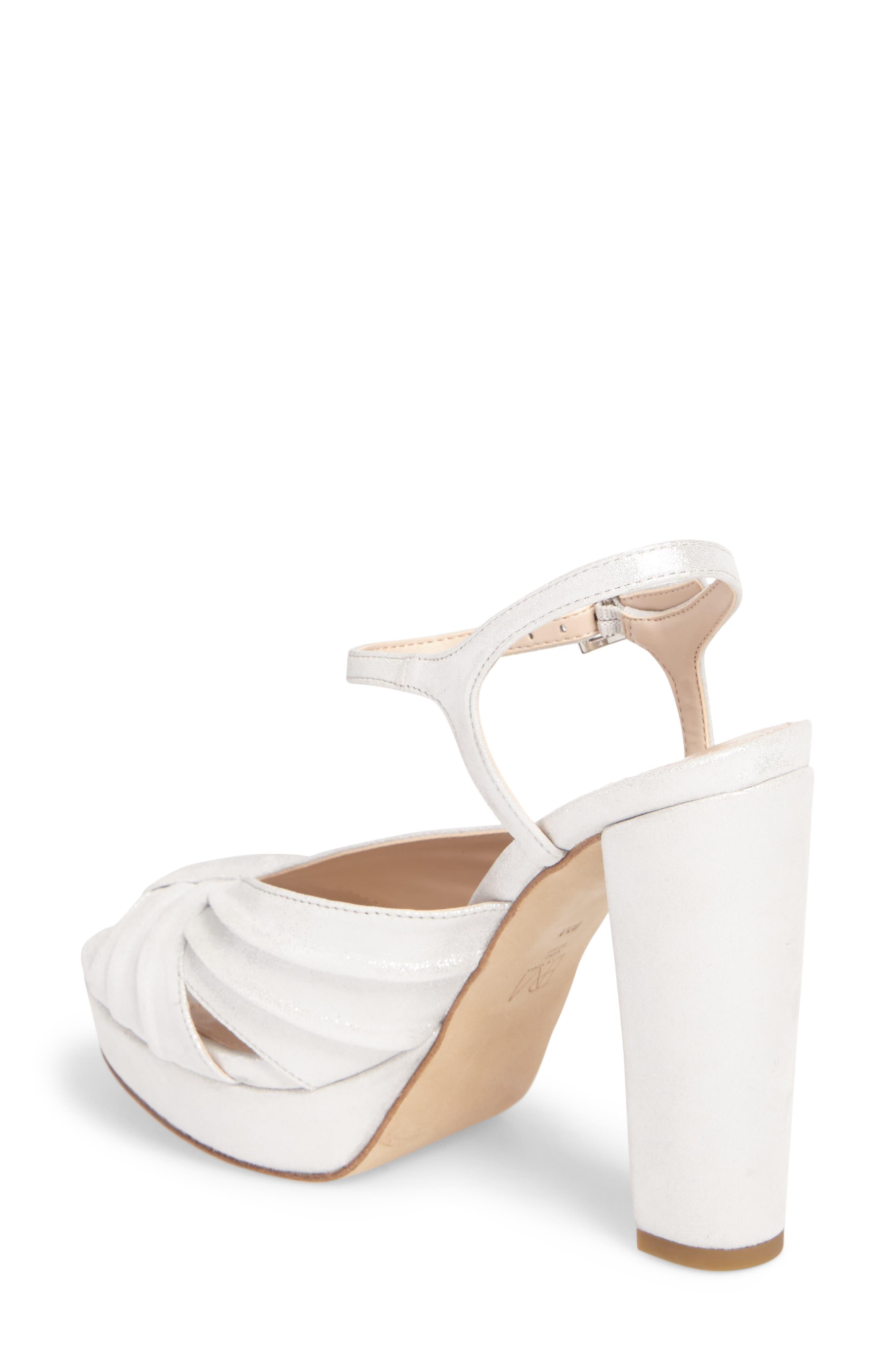 Palm Platform Sandal,                             Alternate thumbnail 2, color,                             Silver Leather
