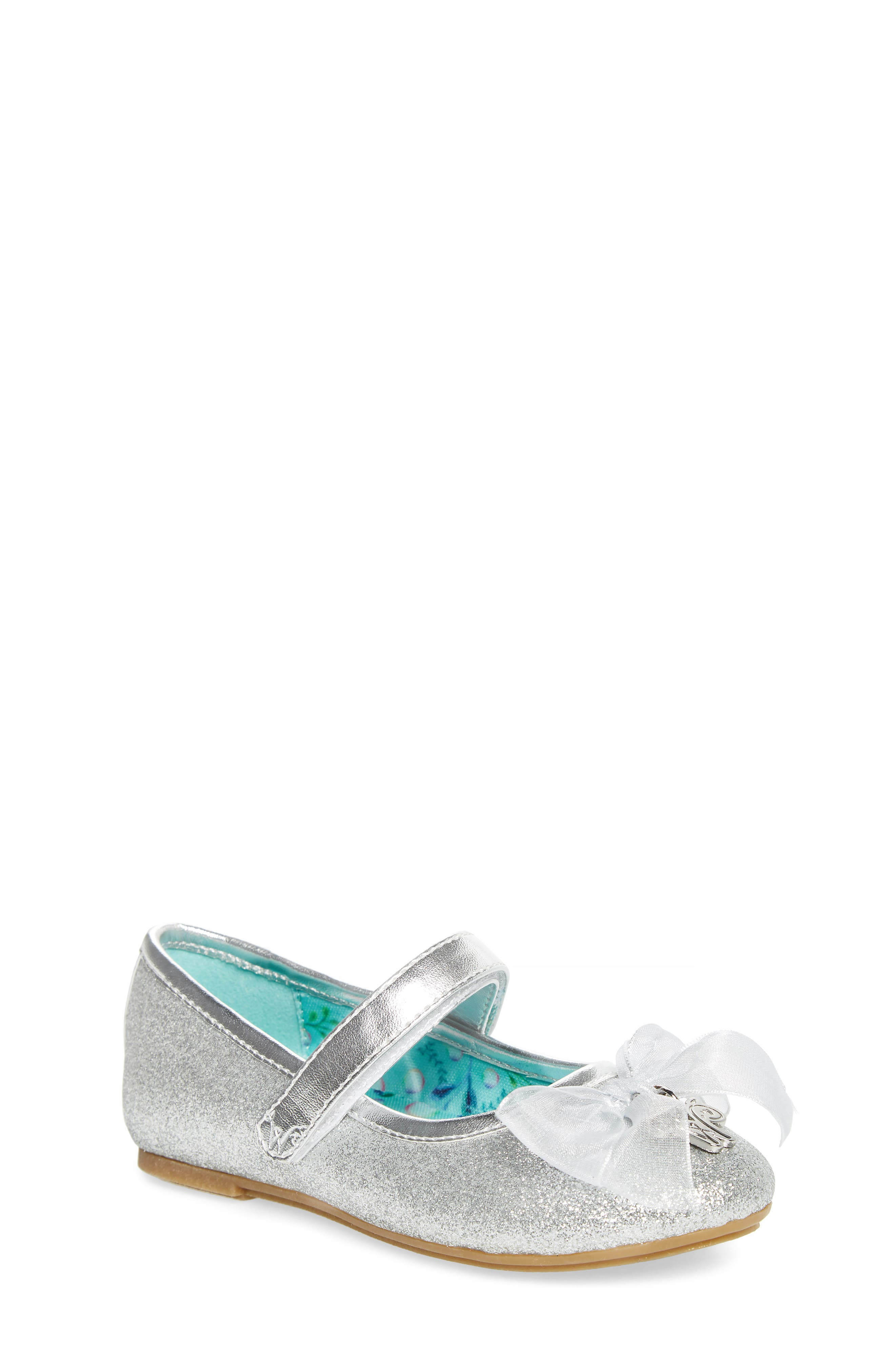 Camille Glitter Ballet Flat,                             Main thumbnail 1, color,                             Silver