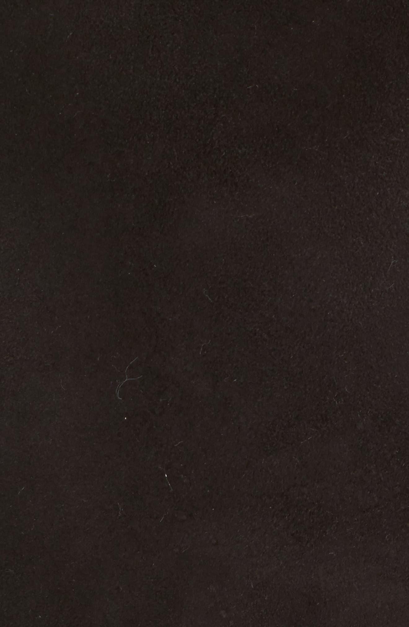 Genuine Shearling Coat,                             Alternate thumbnail 5, color,                             Black