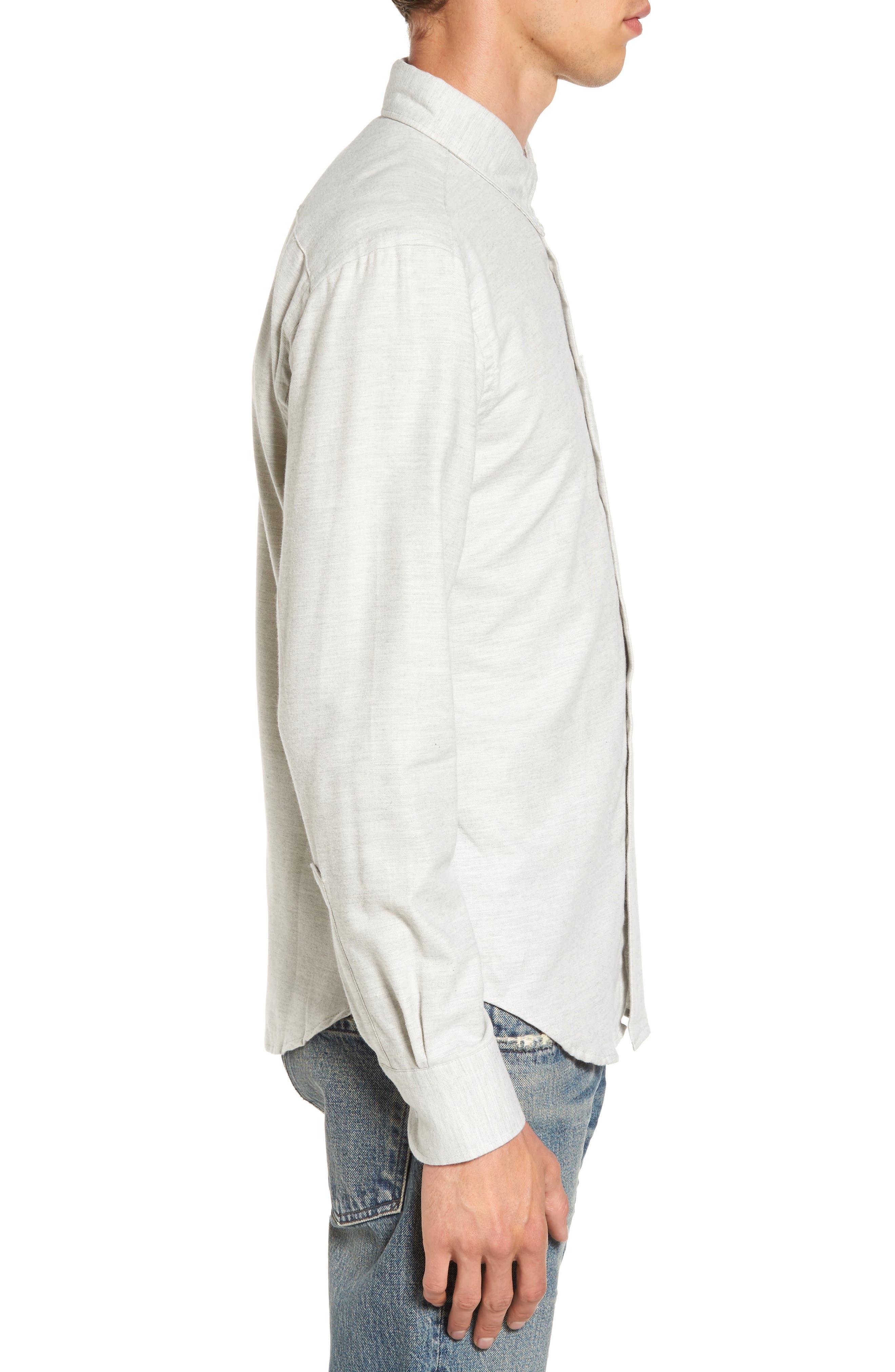 Twill Woven Shirt,                             Alternate thumbnail 3, color,                             Grey