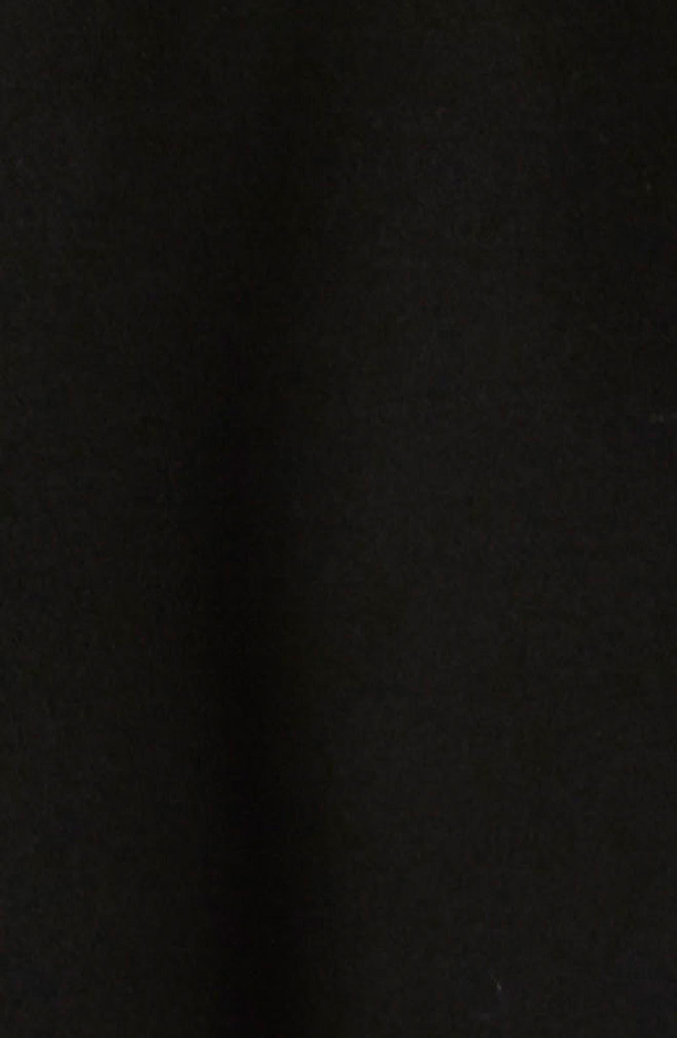 Fit & Flare Peacoat with Removable Faux Fur Trim,                             Alternate thumbnail 4, color,                             Black