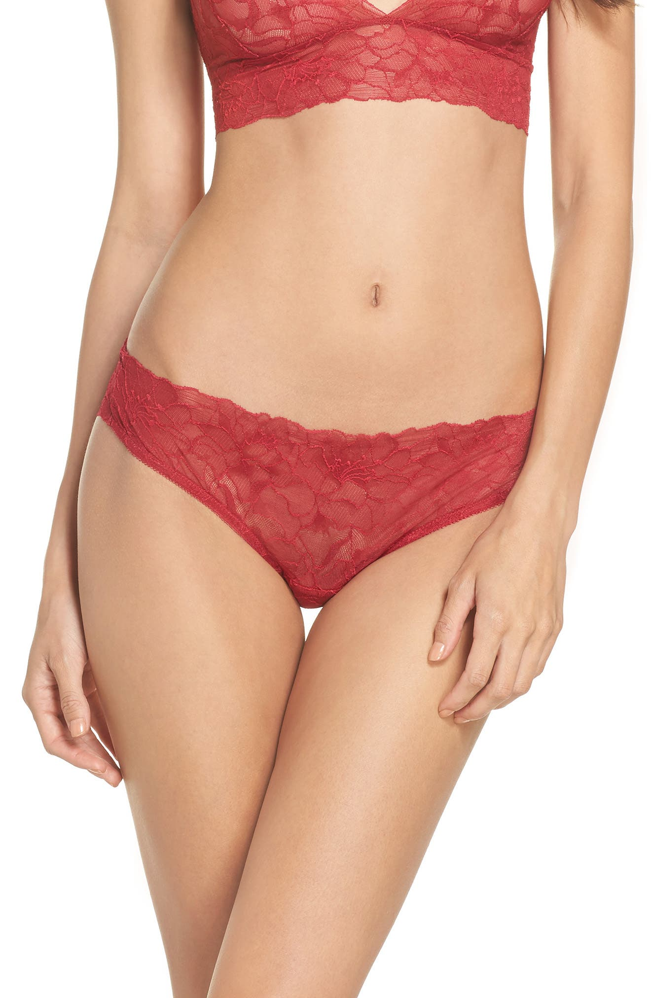 All Lace Glamour Panties,                             Main thumbnail 1, color,                             Scarlet
