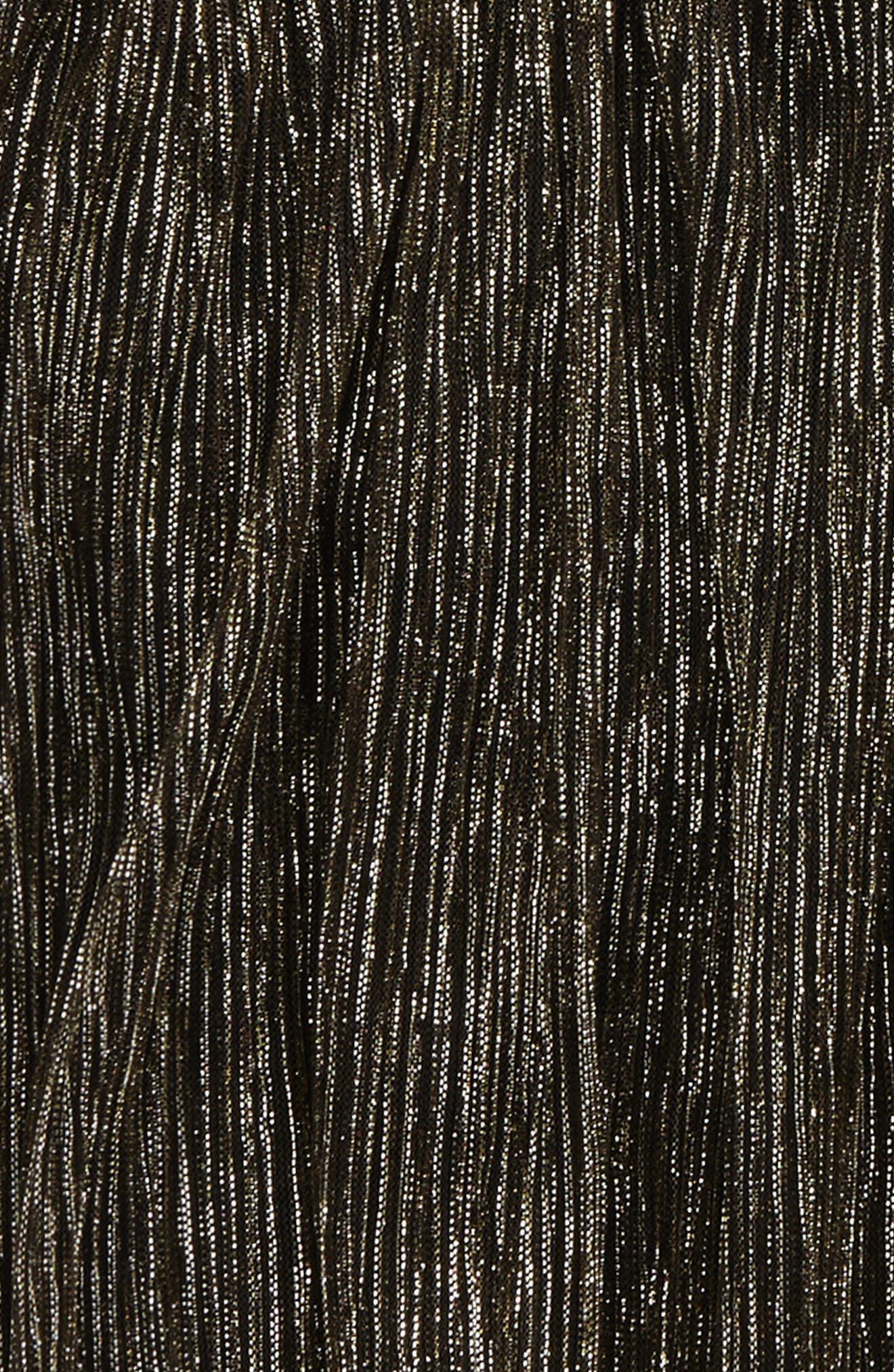 Alternate Image 2  - Maddie Pleated Metallic Skirt (Big Girls)