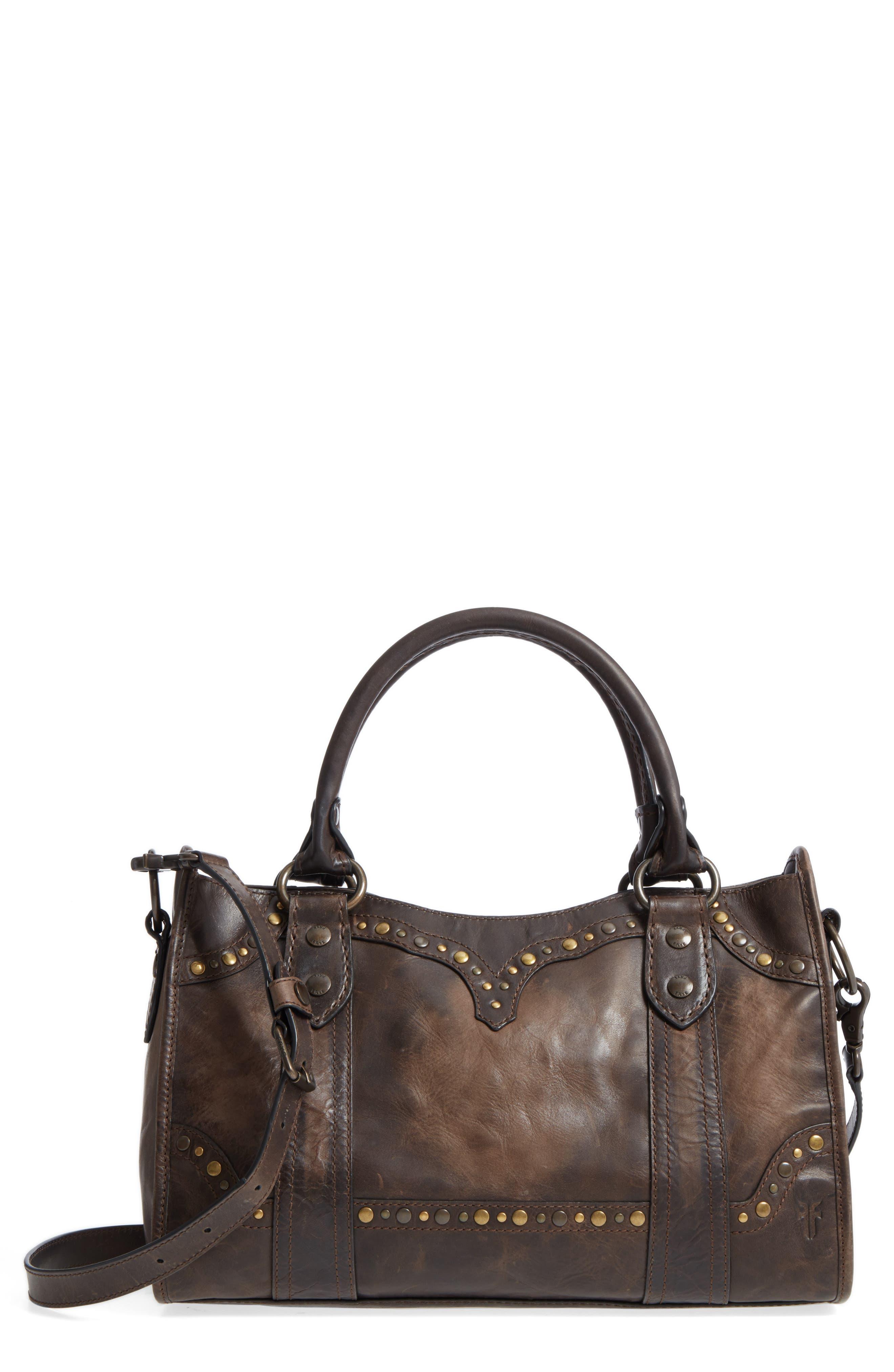 Frye Melissa Western Calfskin Leather Satchel