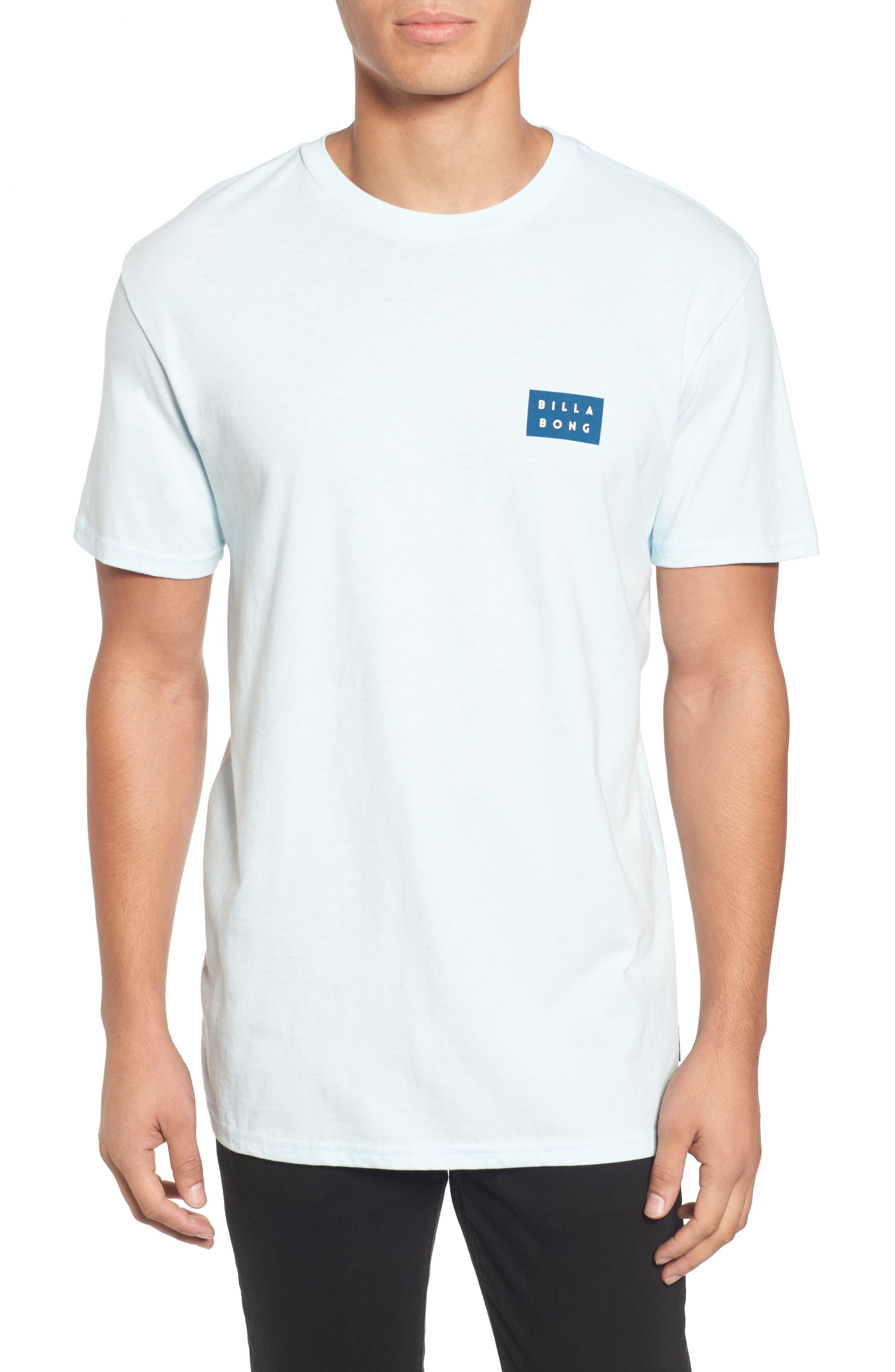 Die Cut Graphic T-Shirt,                         Main,                         color, Coastal Blue