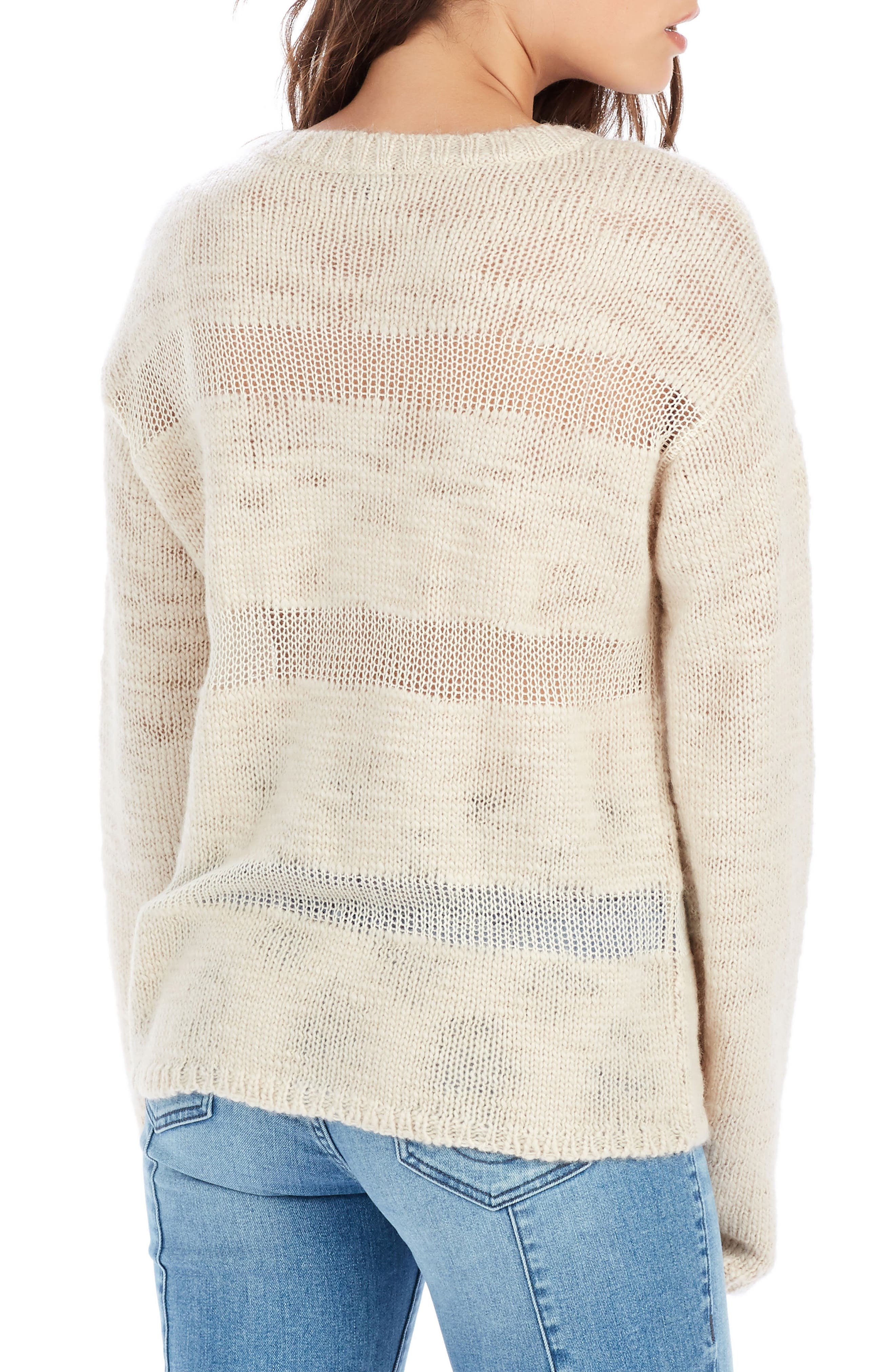 Stripe Sweater,                             Alternate thumbnail 2, color,                             Scuffed Beige