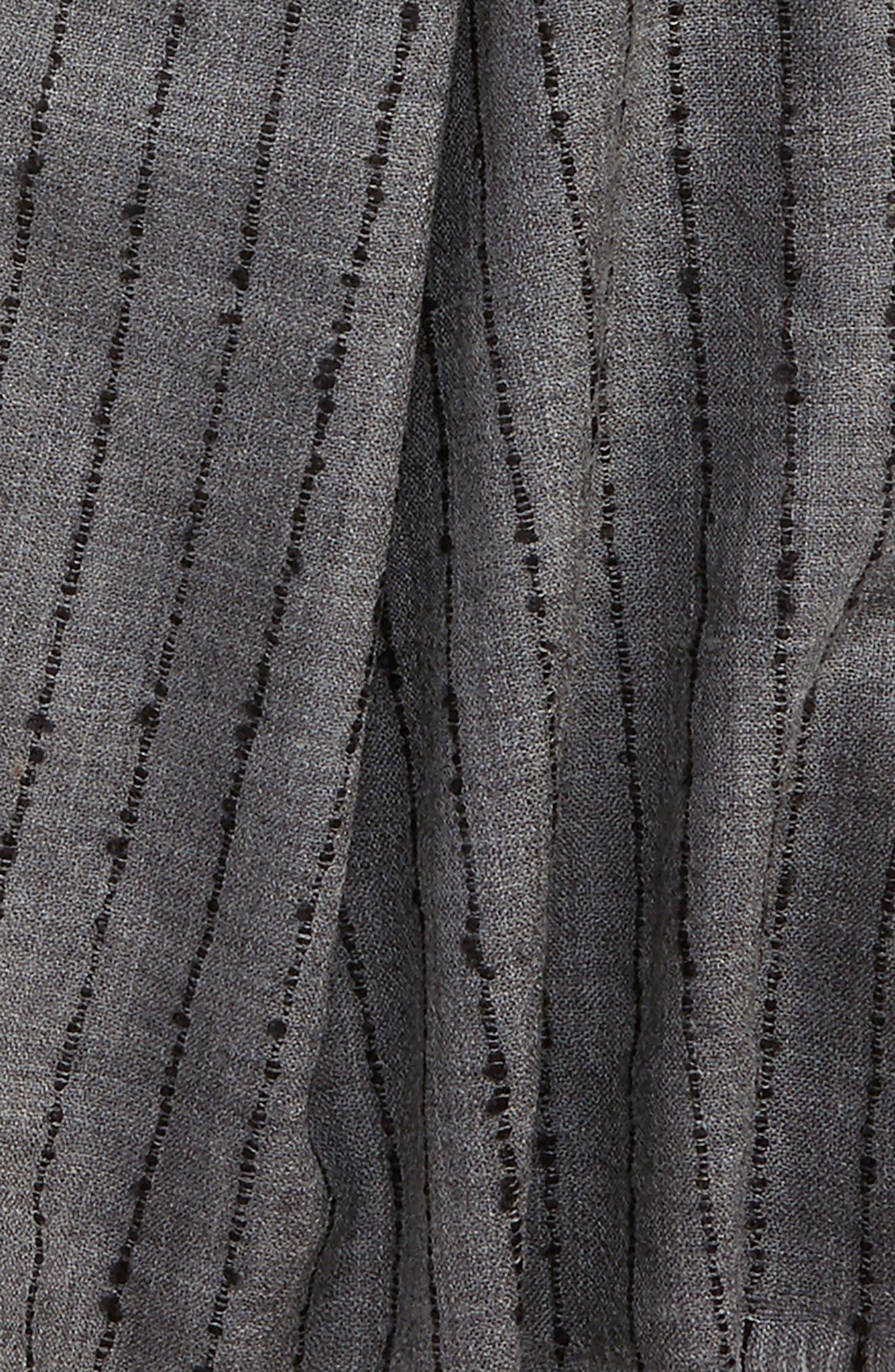 Alternate Image 3  - John Varvatos Star USA Pinstripe Double Face Merino Wool Scarf