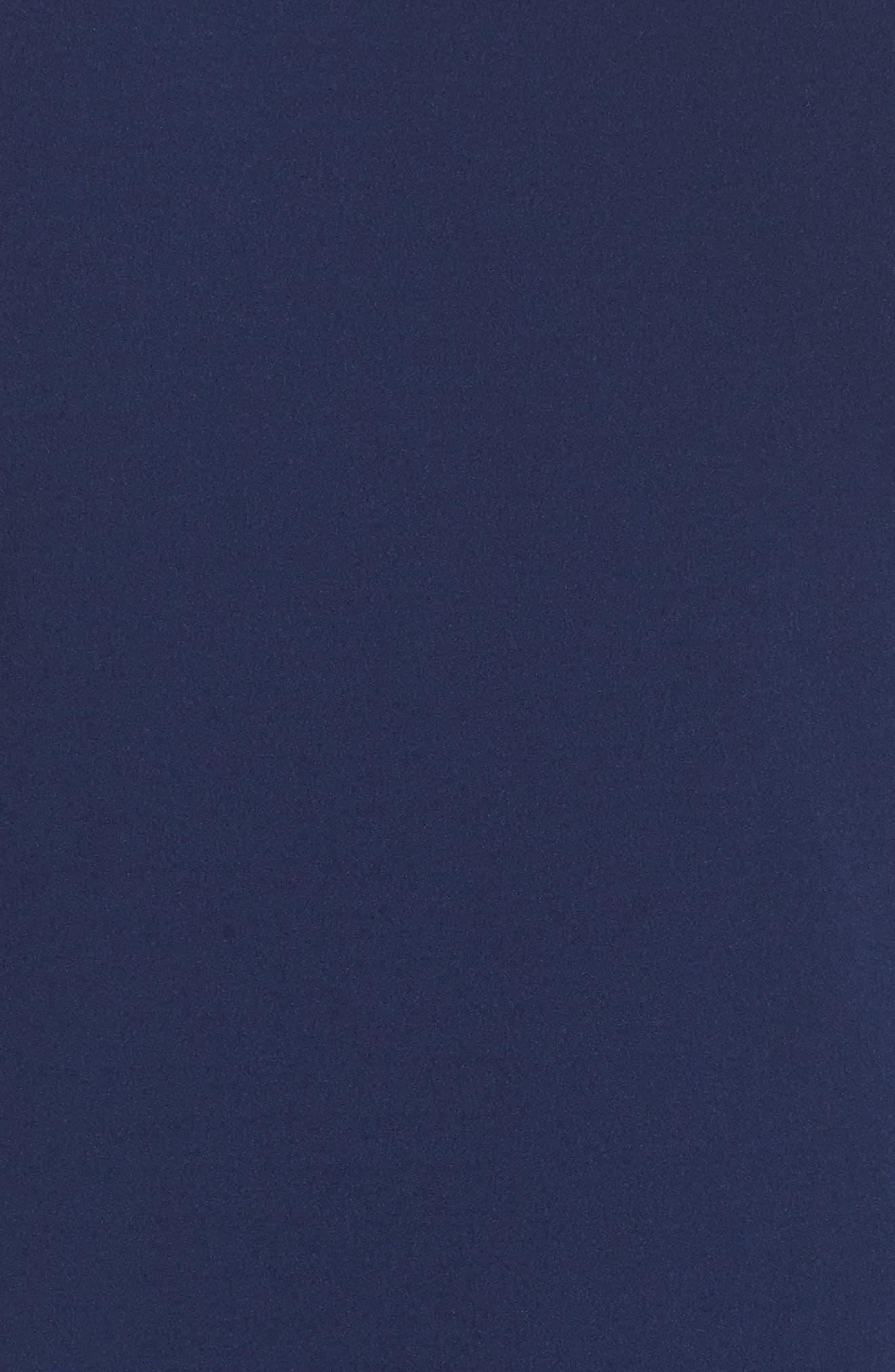 Knit Crepe Asymmetrical Jumpsuit,                             Alternate thumbnail 5, color,                             Blue Violet