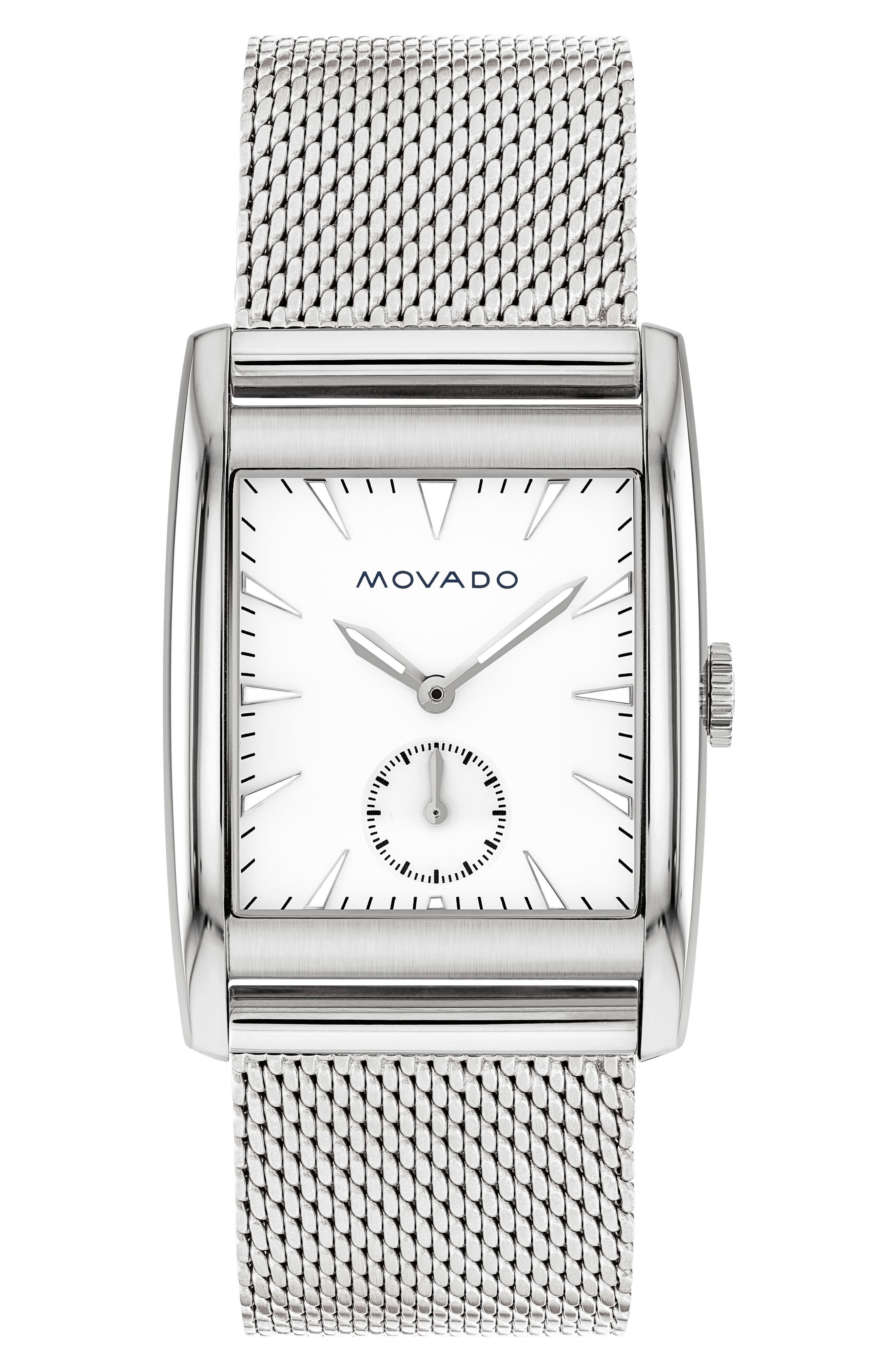 Movado Heritage Mesh Strap Watch, 41mm