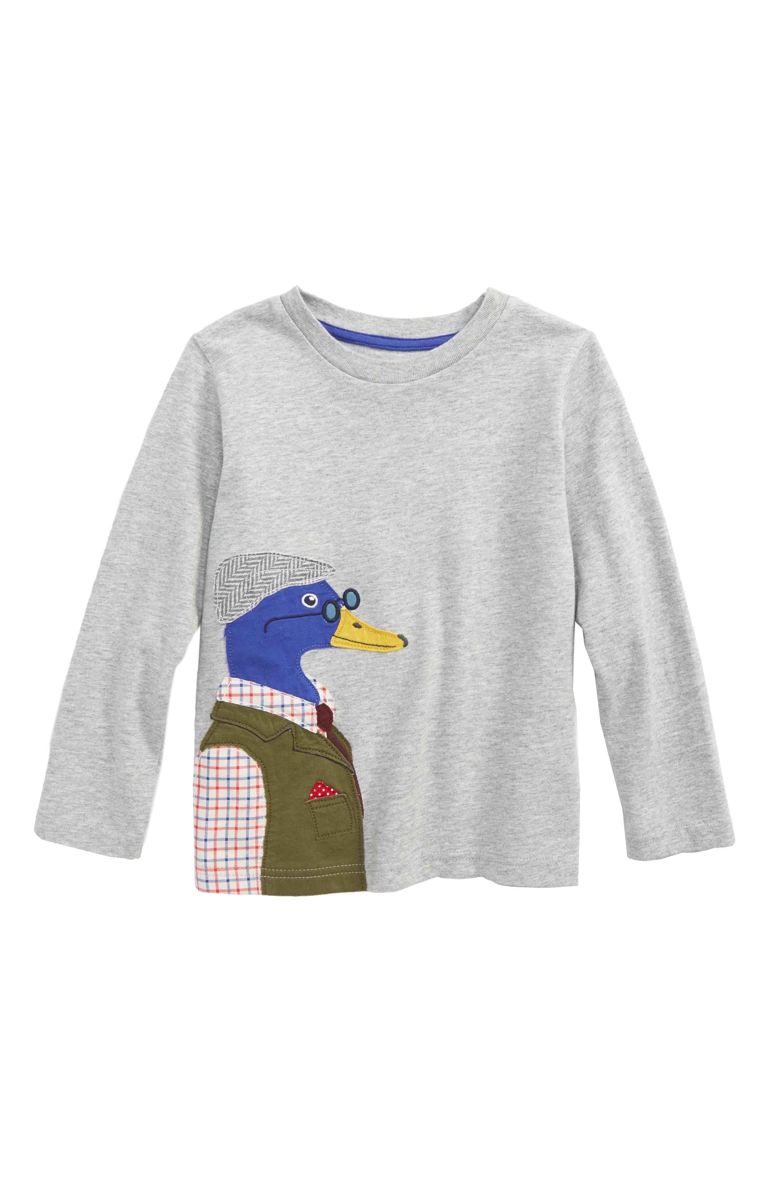 Mini Boden Splendid Animal Appliqué T-Shirt (Toddler Boys, Little Boys & Big Boys)