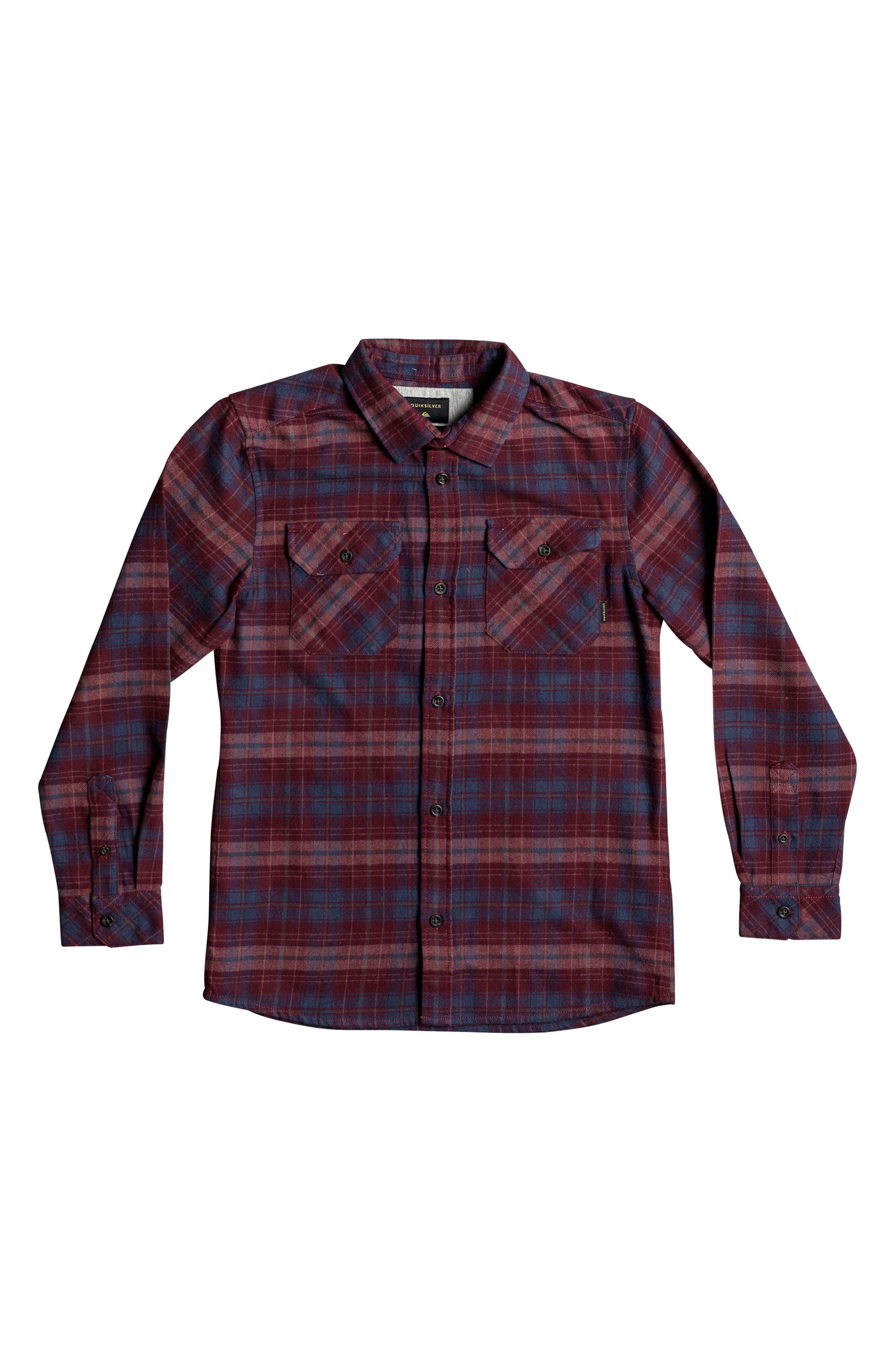 Quiksilver Fitzspeere Plaid Flannel Shirt (Big Boys)