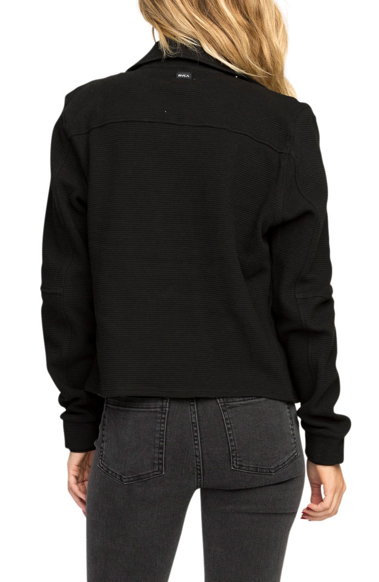 Reckoner Cotton Moto Jacket,                             Alternate thumbnail 2, color,                             Black