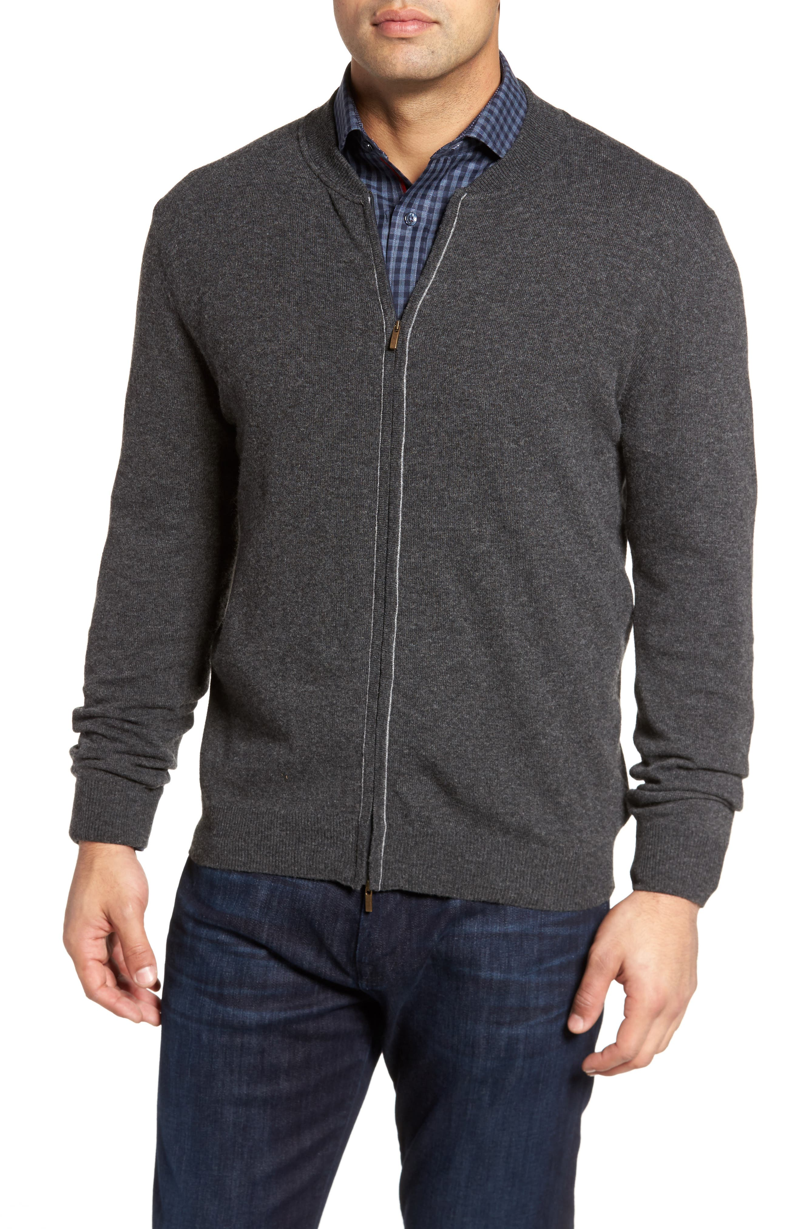 Zip Sweater,                             Main thumbnail 1, color,                             Graphite