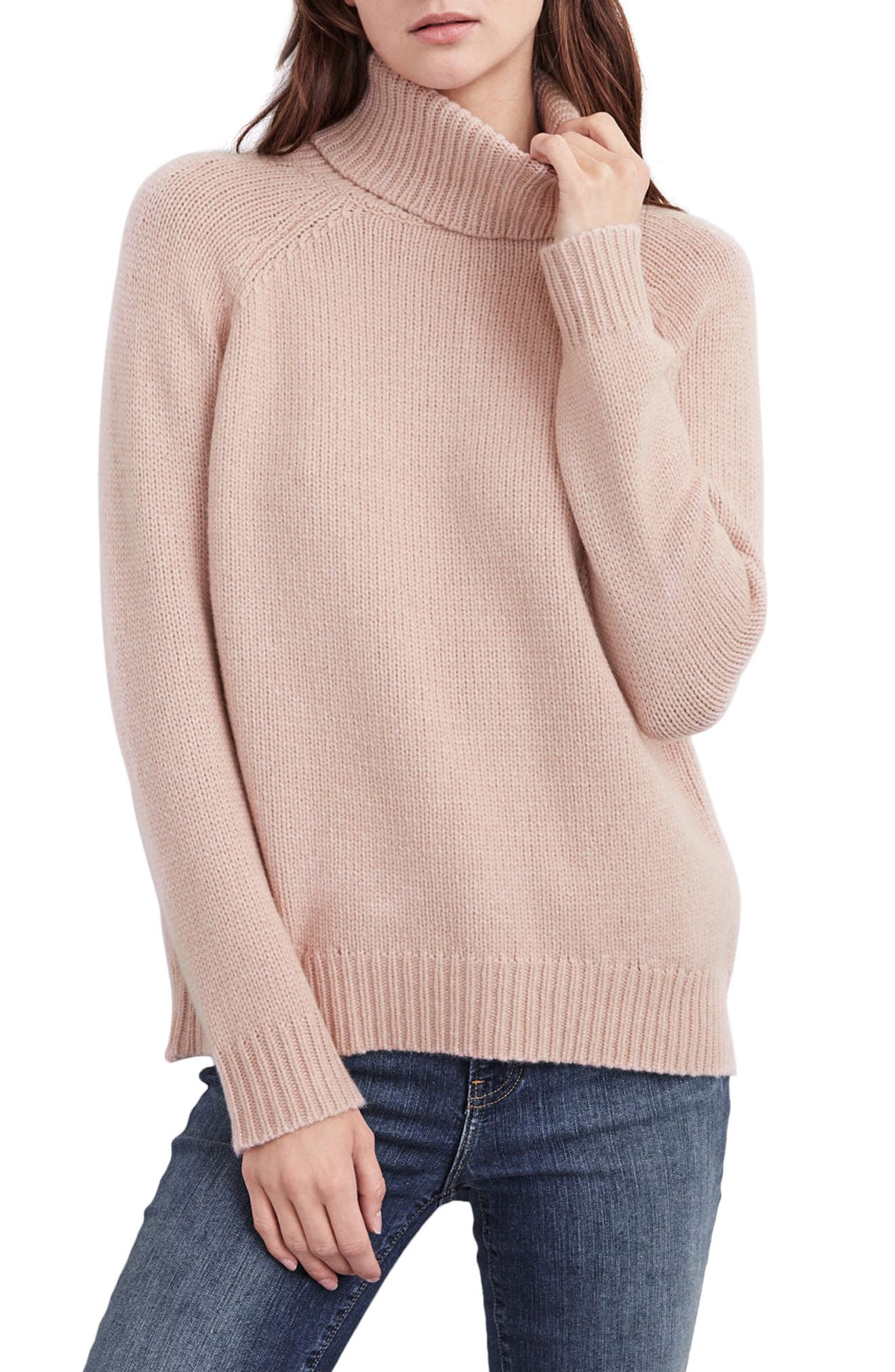 Textured Turtleneck Sweater,                             Main thumbnail 1, color,                             Plush