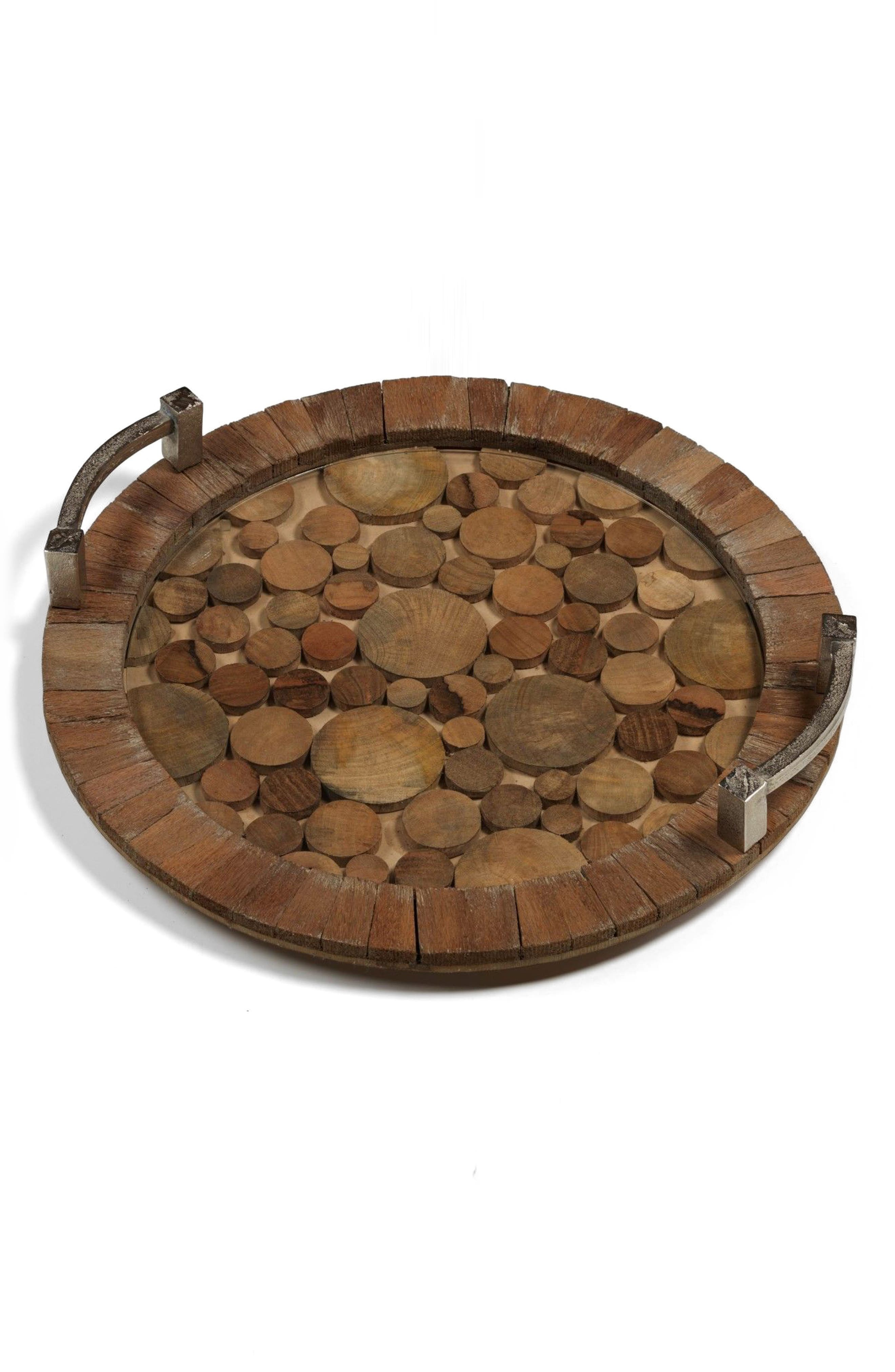 Main Image - Zodax Hagron Wood Serving Tray