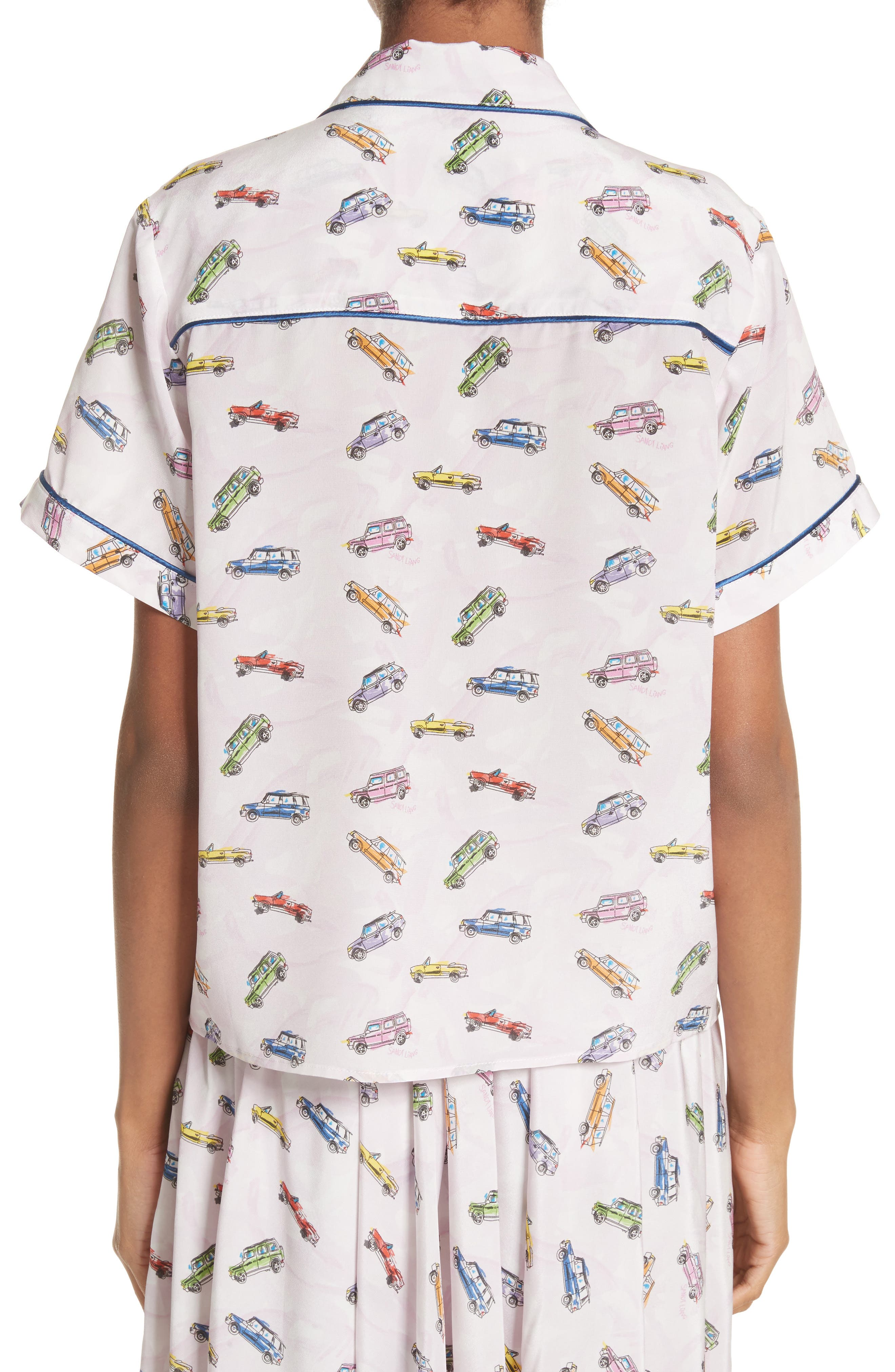 Coconuts Car Print Top,                             Alternate thumbnail 2, color,                             Sweet 16
