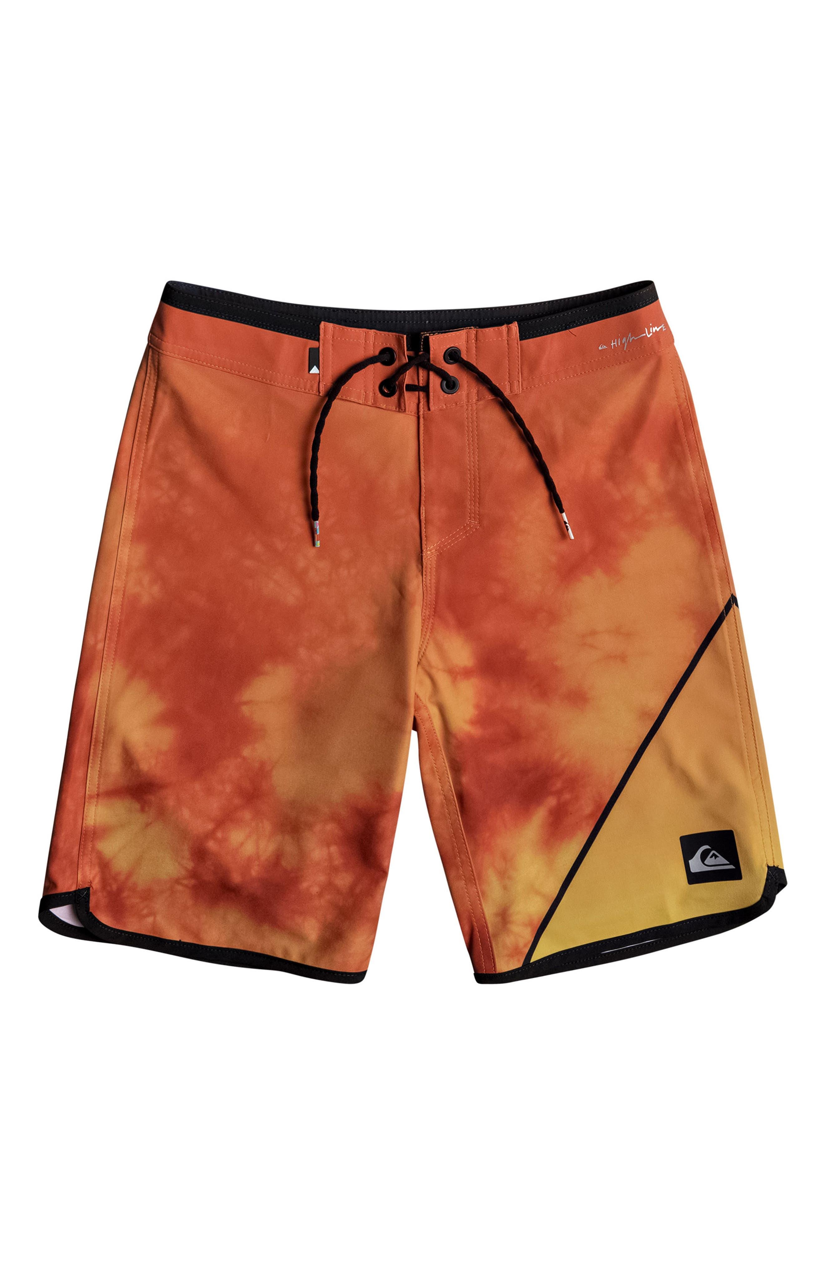 New Wave Board Shorts,                         Main,                         color, Cherry Tomato
