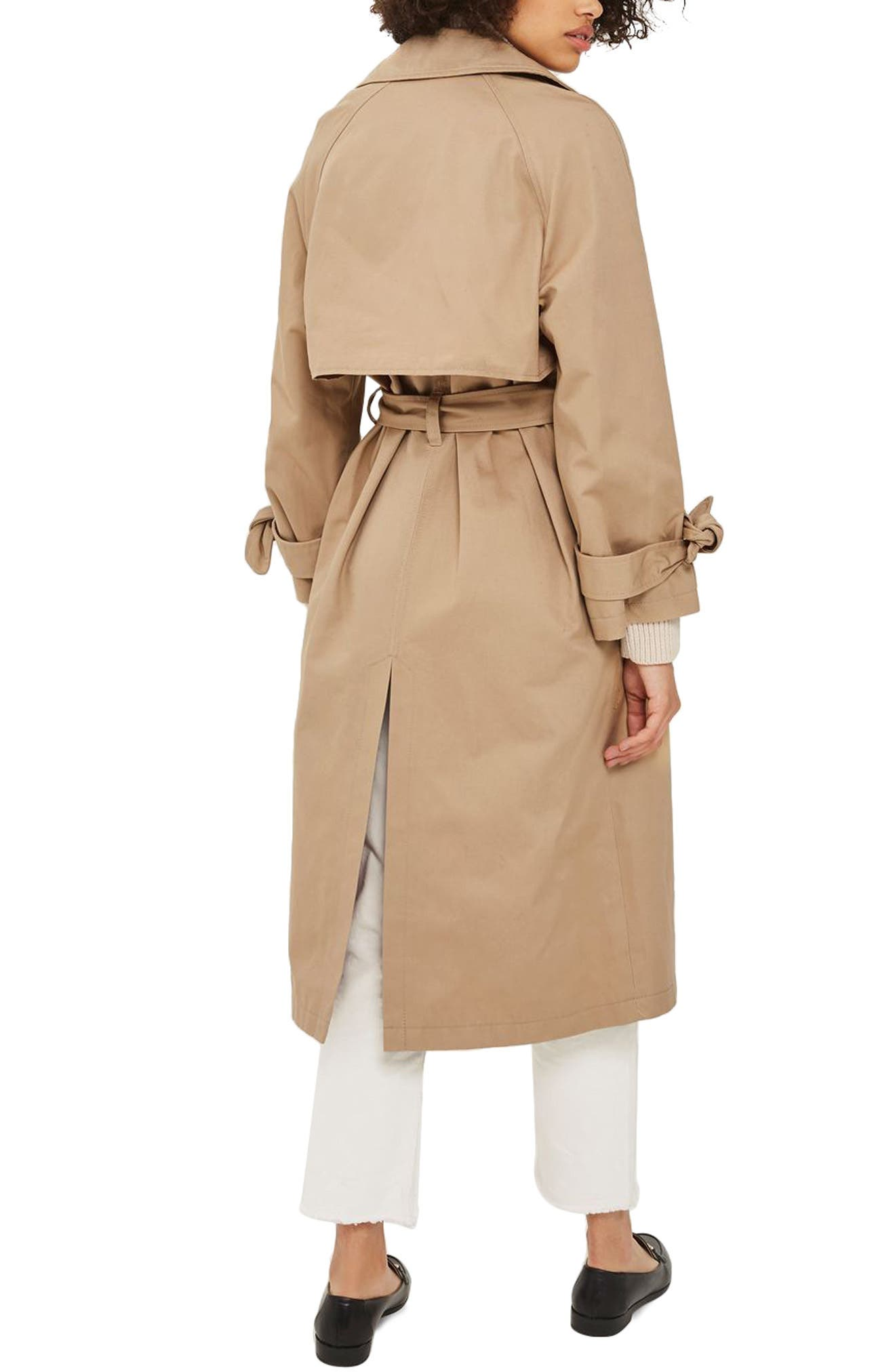 Editor's Double Breasted Trench Coat,                             Alternate thumbnail 2, color,                             Stone