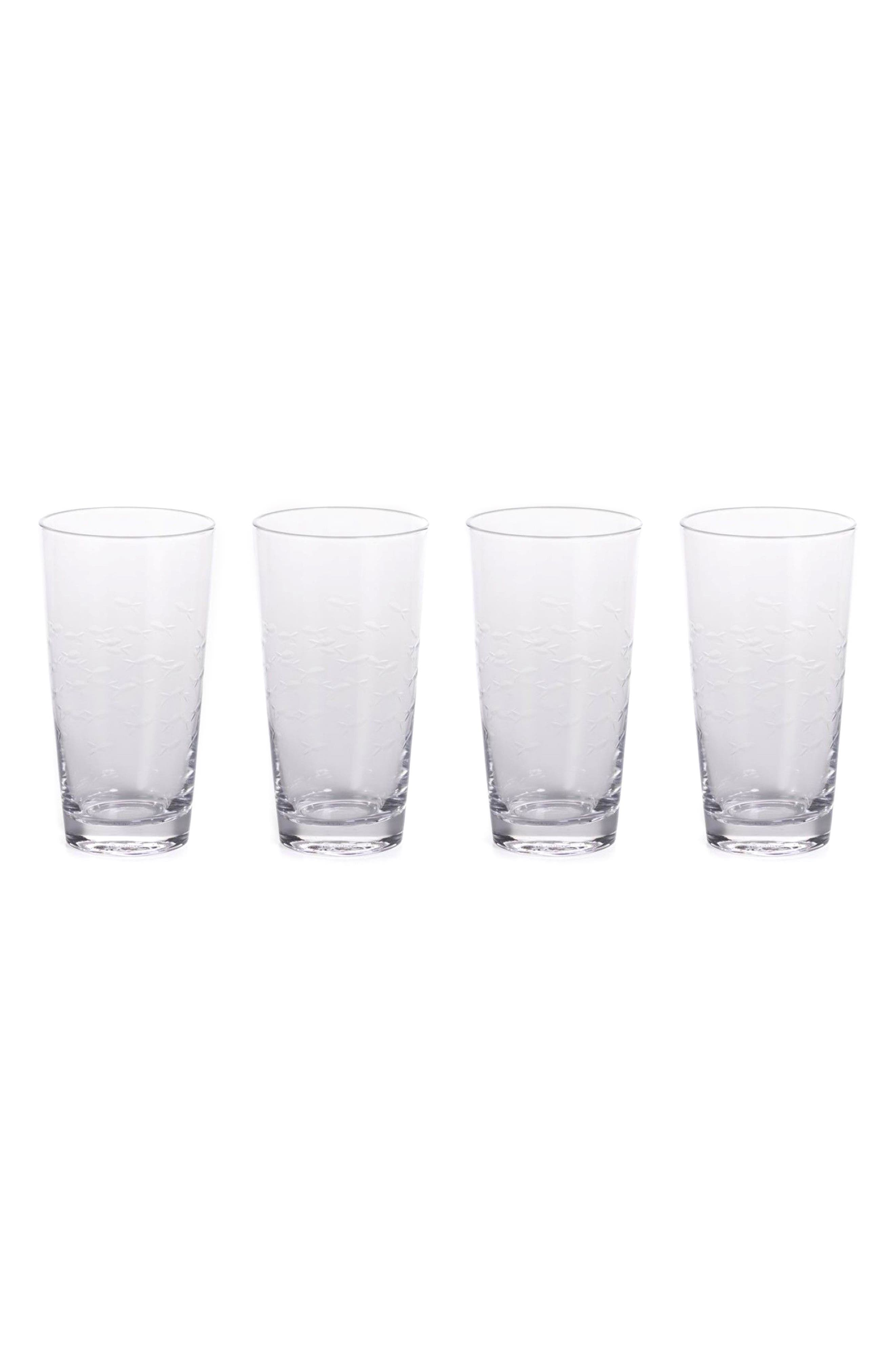 Keely Set of 4 Highball Glasses,                         Main,                         color, Clear