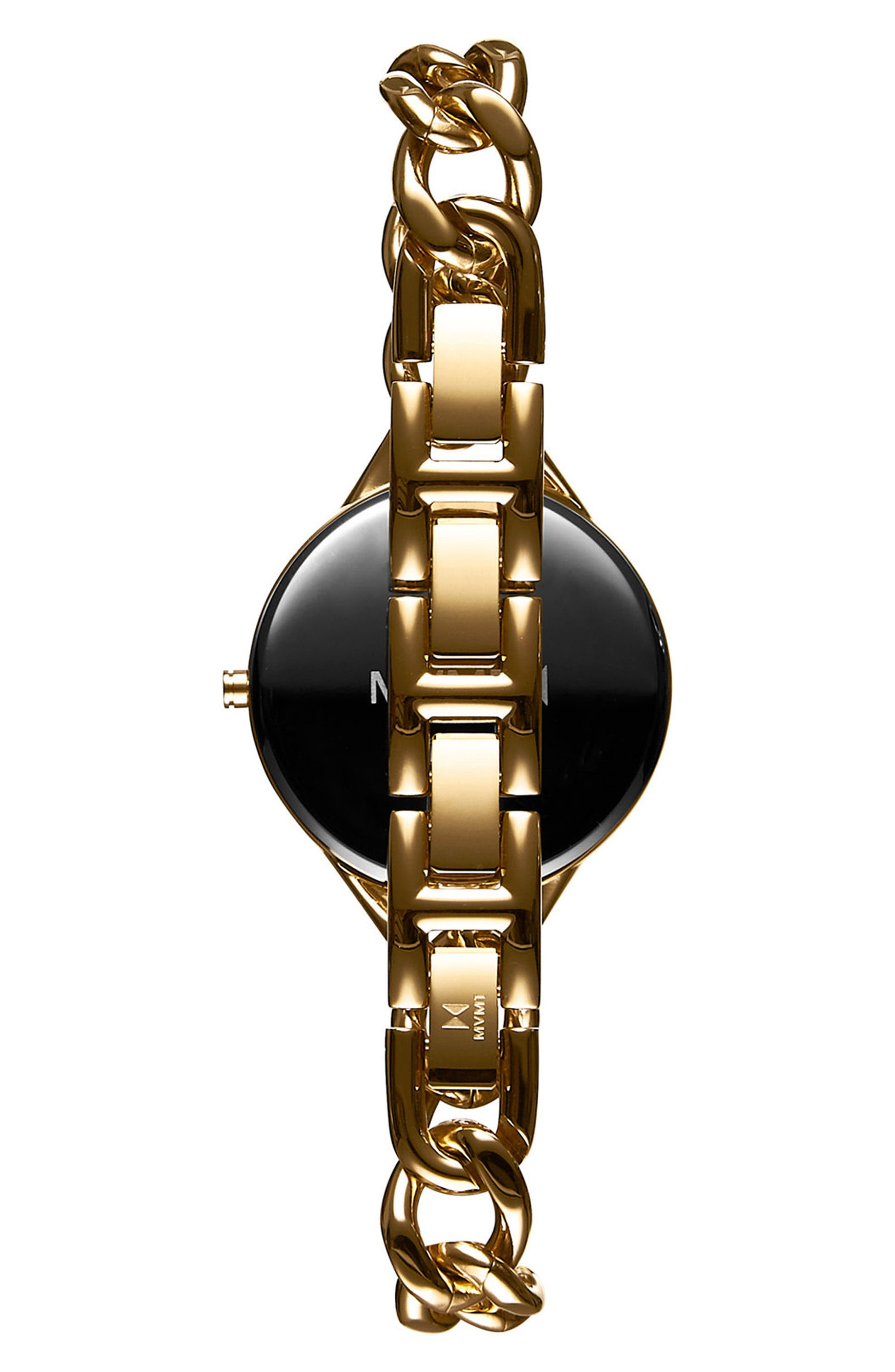 Gala Chain Bracelet Watch, 32mm,                             Alternate thumbnail 2, color,                             Gold/ White/ Gold