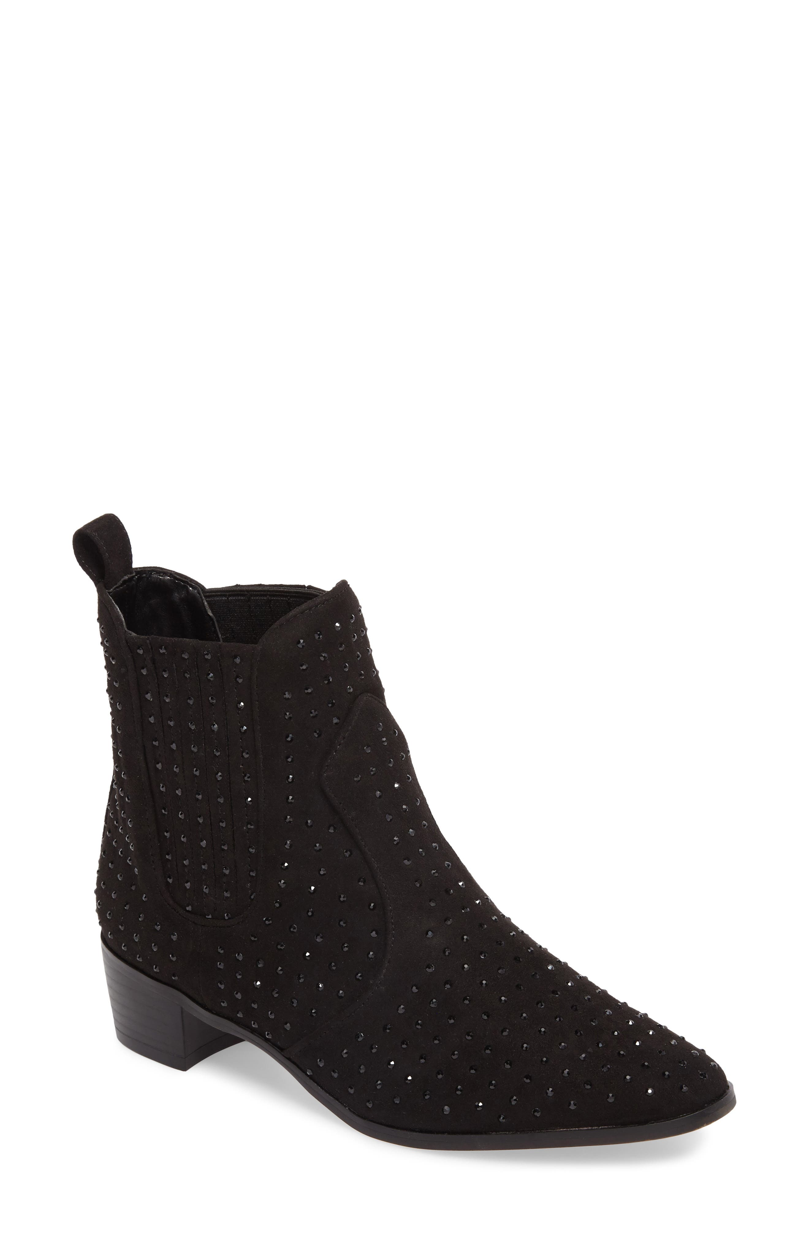 Ryan Bootie,                             Main thumbnail 1, color,                             Black Suede