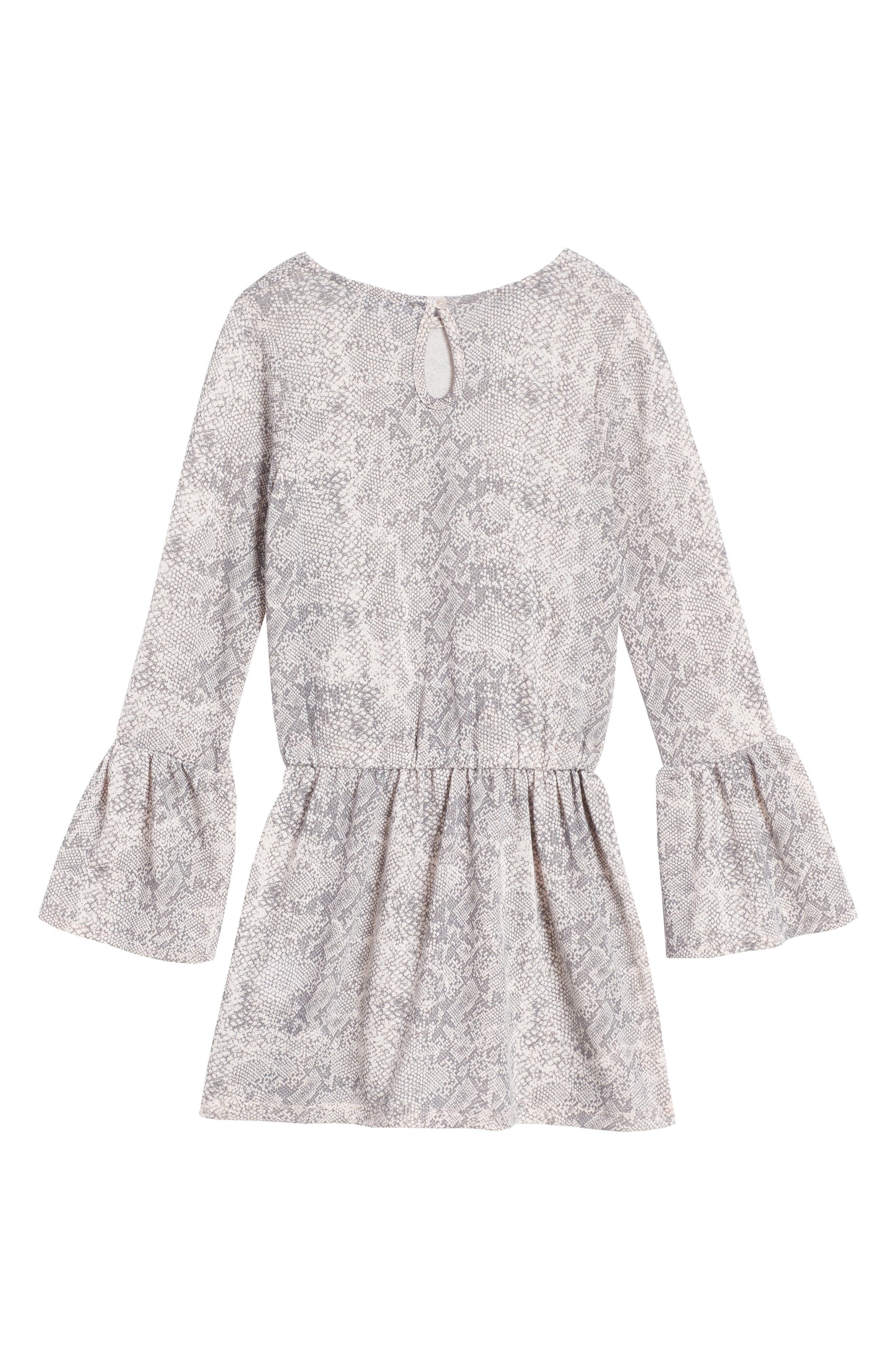 Alternate Image 2  - Splendid Python Print Loose Knit Dress (Big Girls)