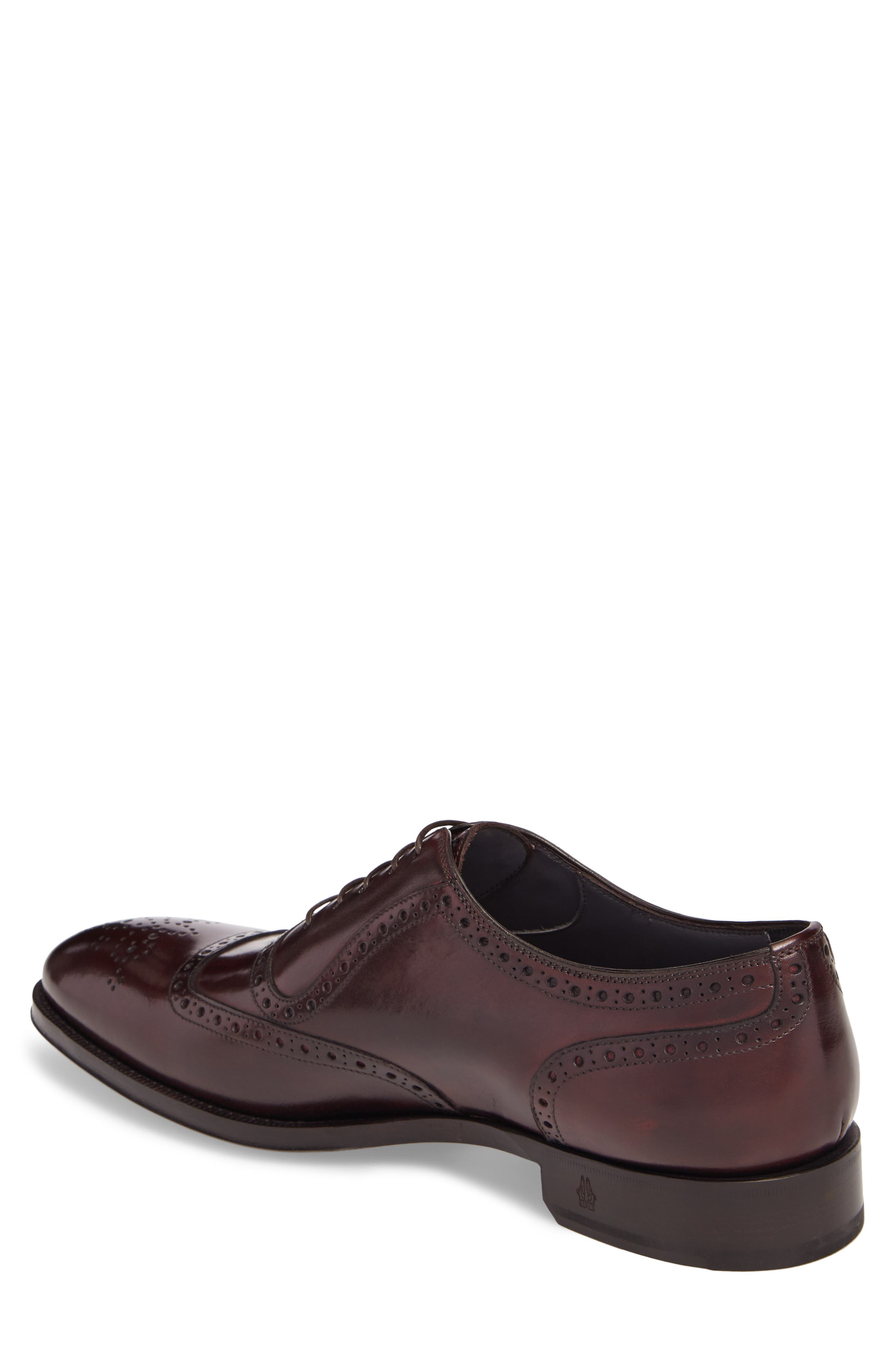 Medallion Toe Oxford,                             Alternate thumbnail 2, color,                             Anima Leather