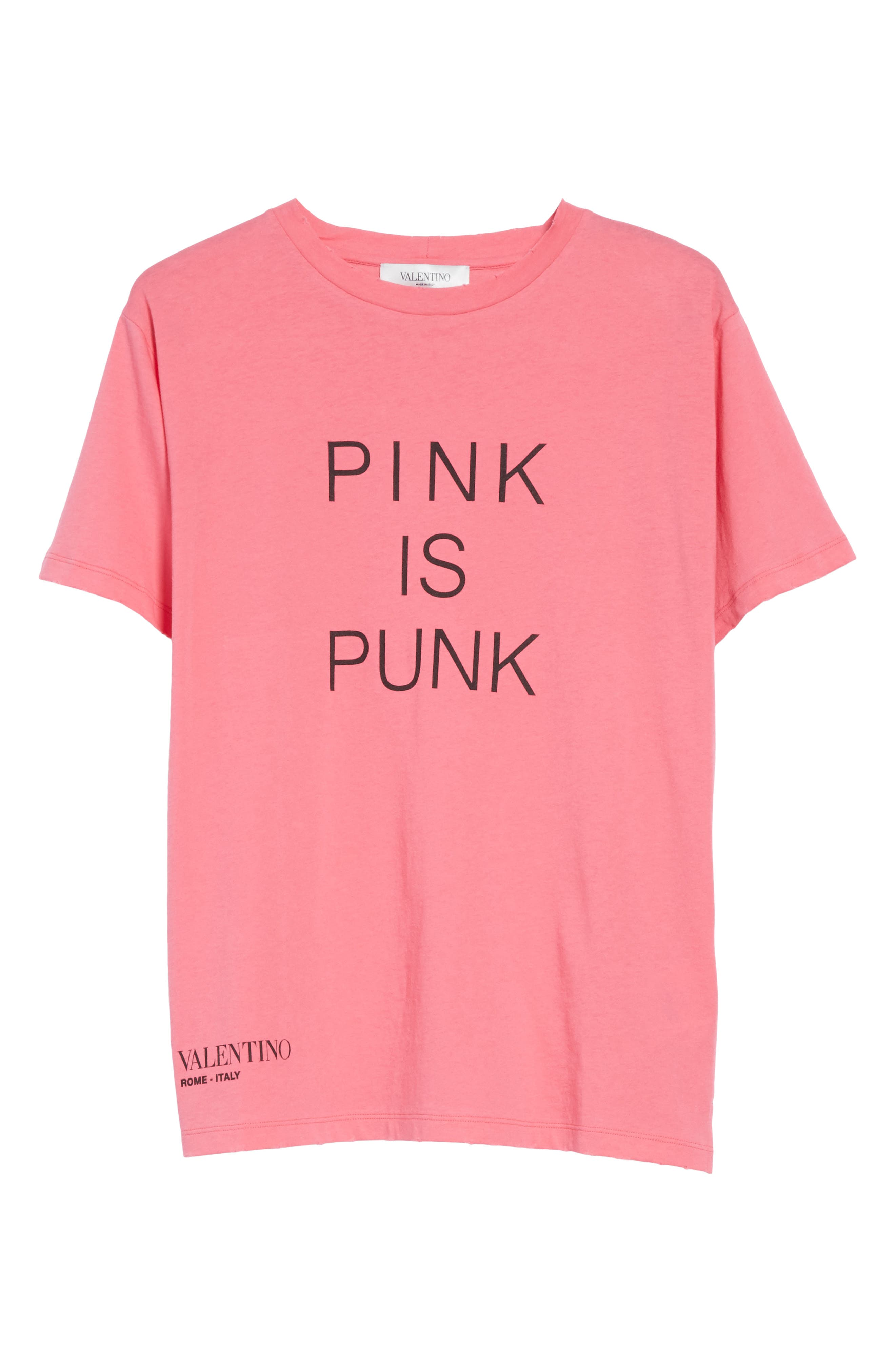 Pink Is Punk Cotton Tee,                             Alternate thumbnail 6, color,                             Pink