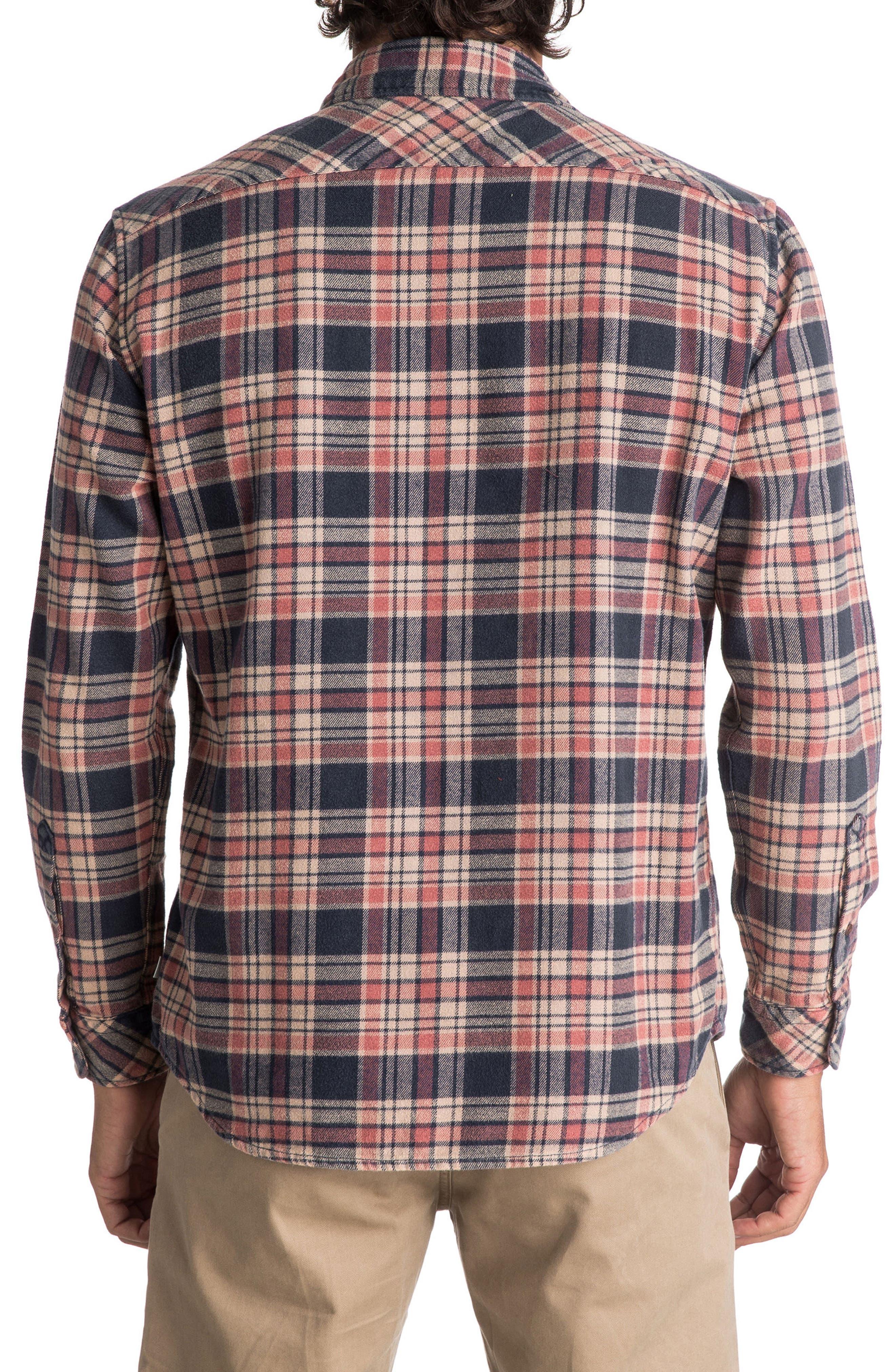 Alternate Image 2  - Quiksilver Tangloop Plaid Flannel Shirt
